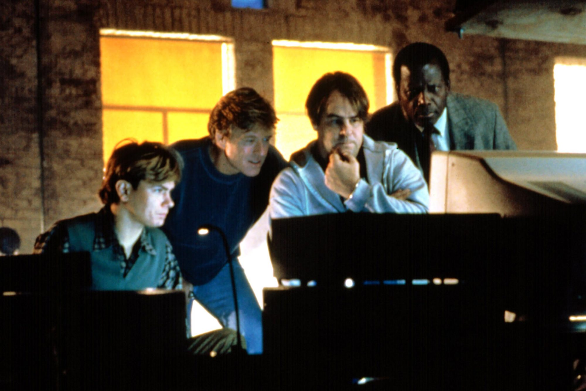 SNEAKERS, River Phoenix, Robert Redford, Dan Aykroyd, Sidney Poitier, 1992