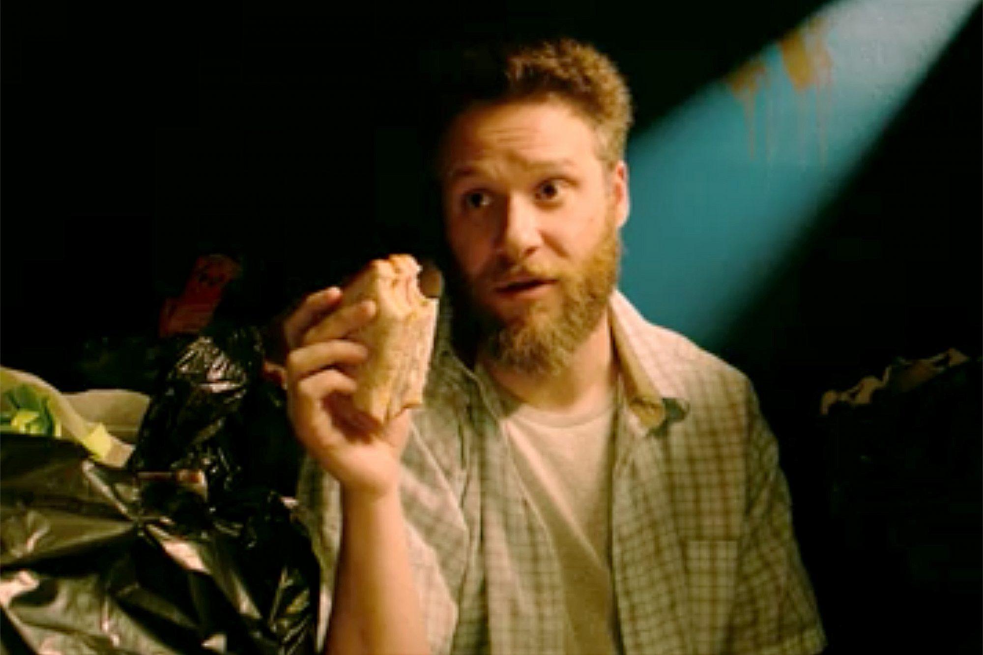 Seth Rogen and James Franco in Dumpster Diving short film