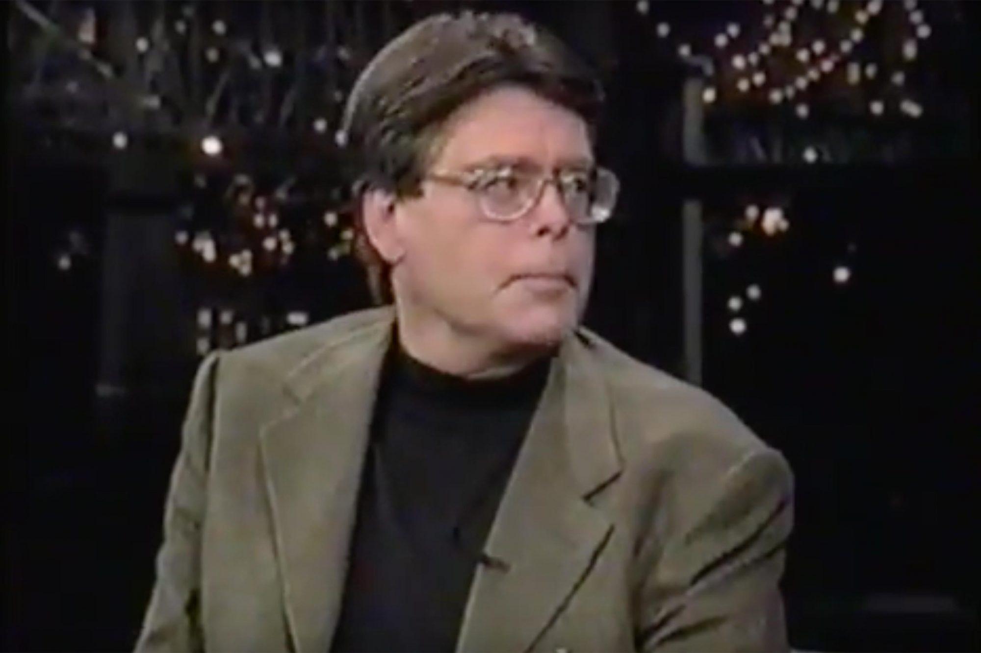 Stephen King (screen grab) on Letterman CR: CBS