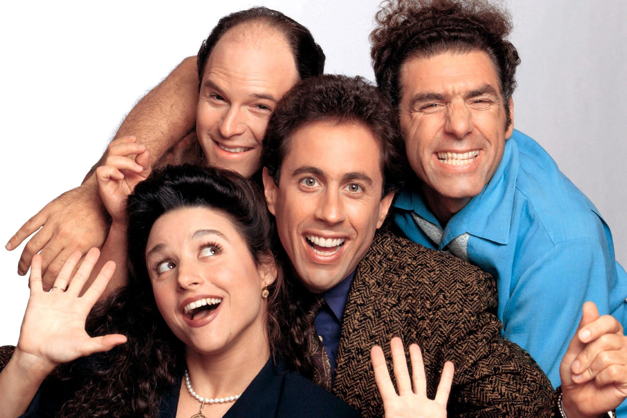 SEINFELD, Jason Alexander, Julia Louis-Dreyfus, Jerry Seinfeld, Michael Richards. Season 7. 1990 - 1