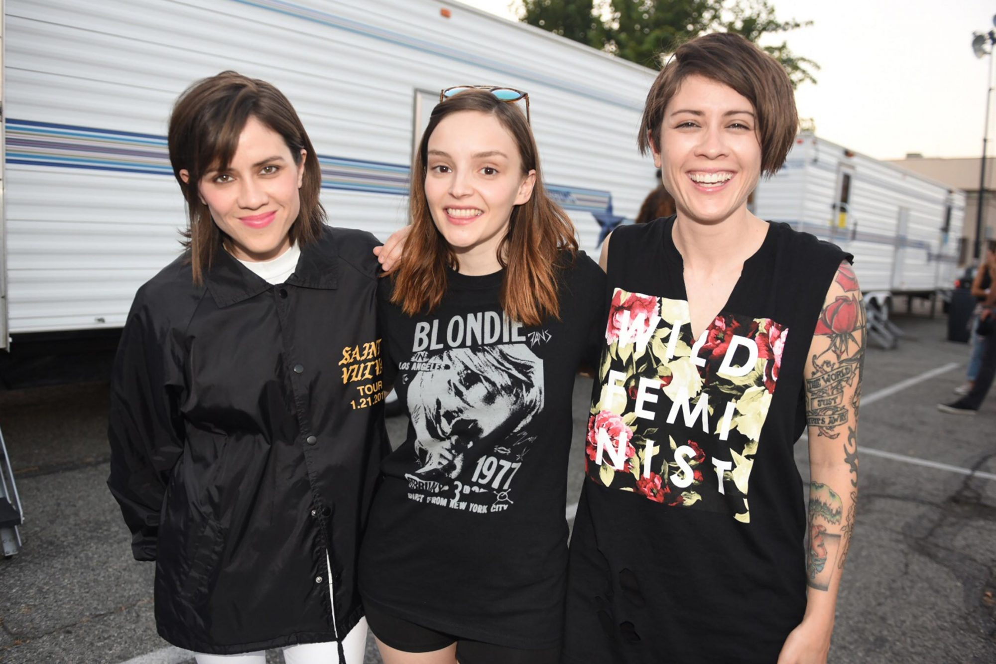 Tegan and Sara with Lauren from CHVRCHES CR: Lindsey Byrnes