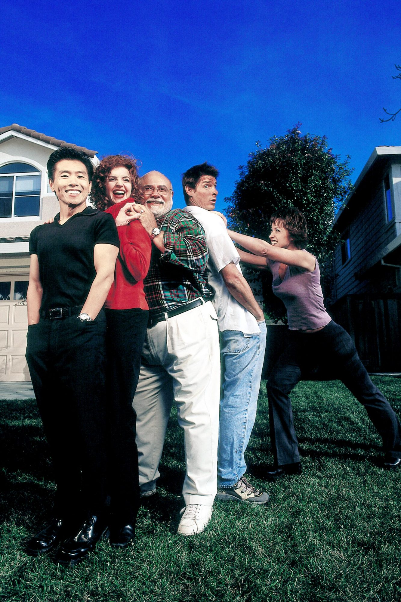 TRADING SPACES, Vern Yip, Larie Smith, Frank Bielec, Ty Pennington, Paige Davis, 2000-08, © A. Smith