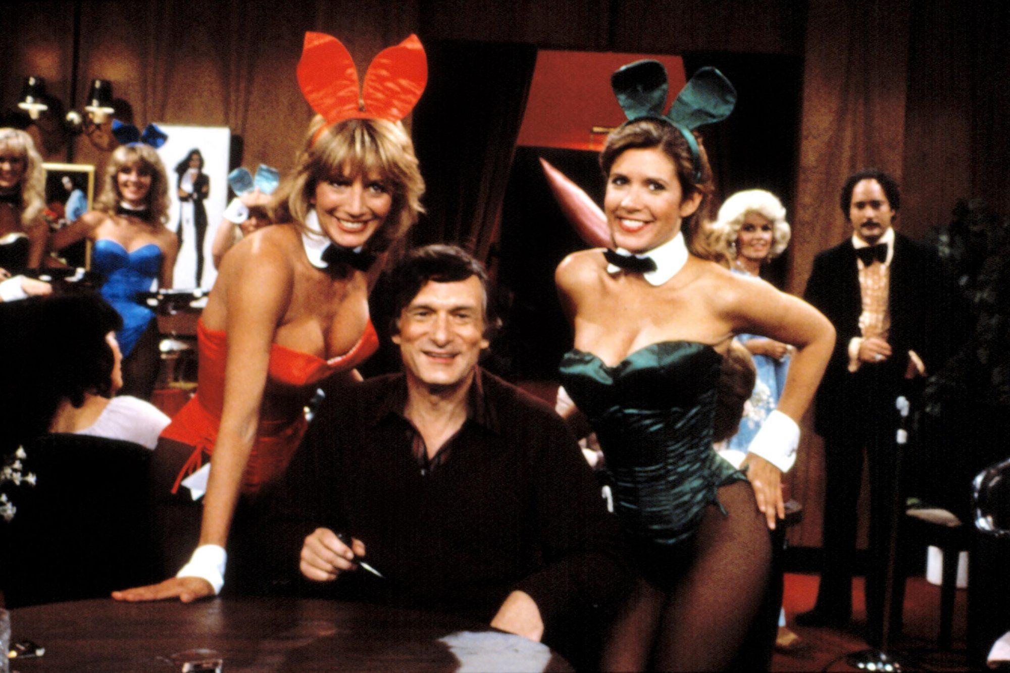 "LAVERNE & SHIRLEY, ""The Playboy Show"" (Season 8), Penny Marshall, Hugh Hefner, Carrie Fisher, 1976-8"