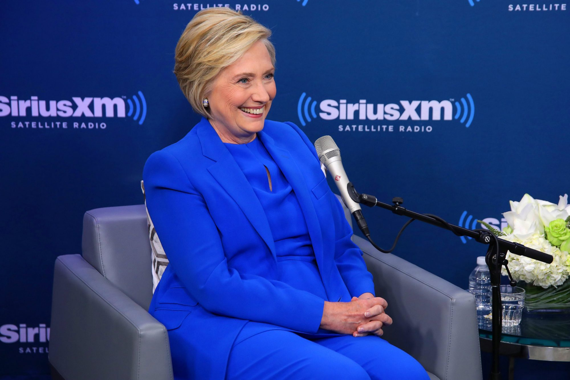 Hillary Clinton Joins SiriusXM For A Town Hall Event Hosted By Zerlina Maxwell