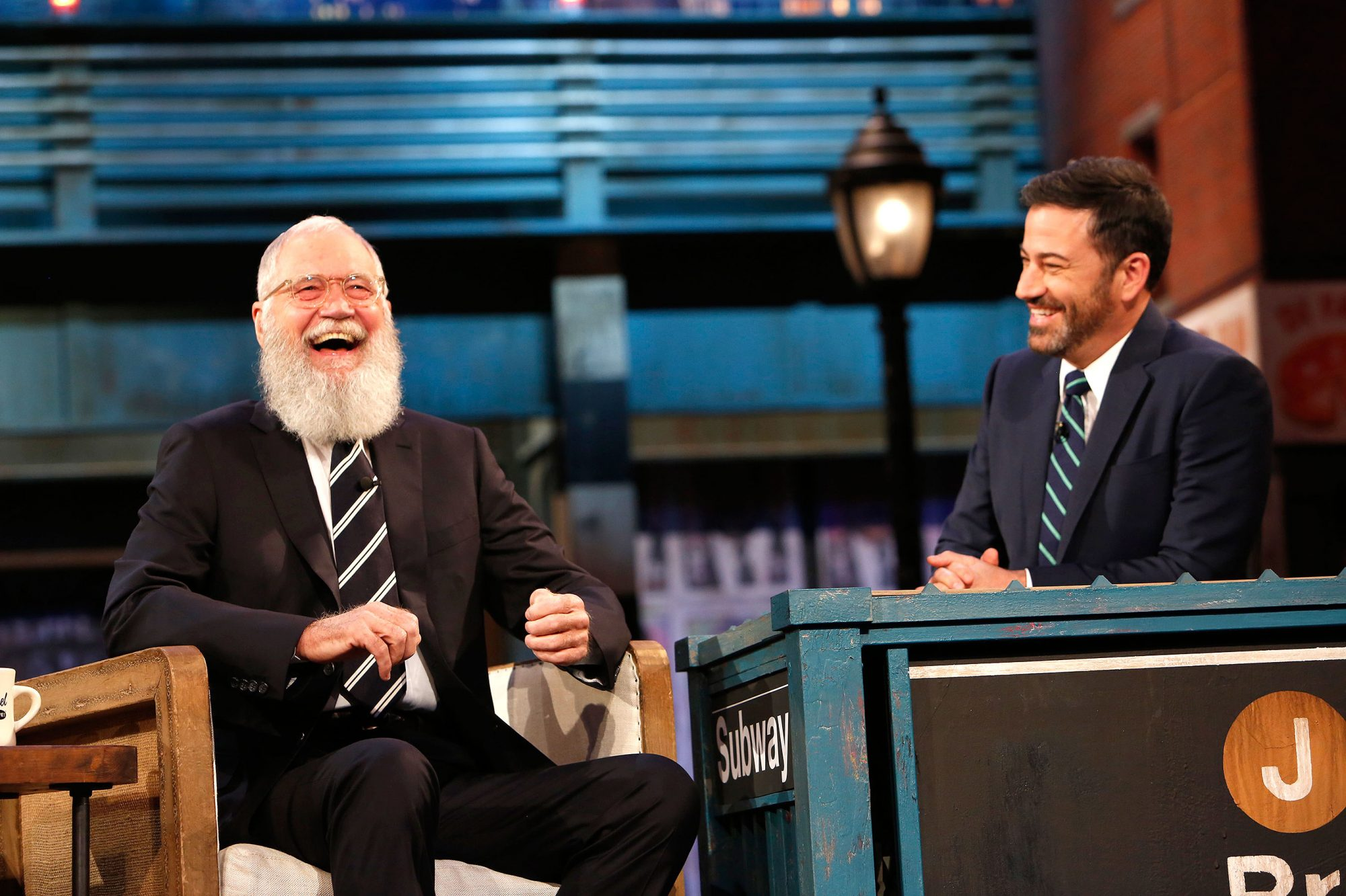 DAVID LETTERMAN, JIMMY KIMMEL