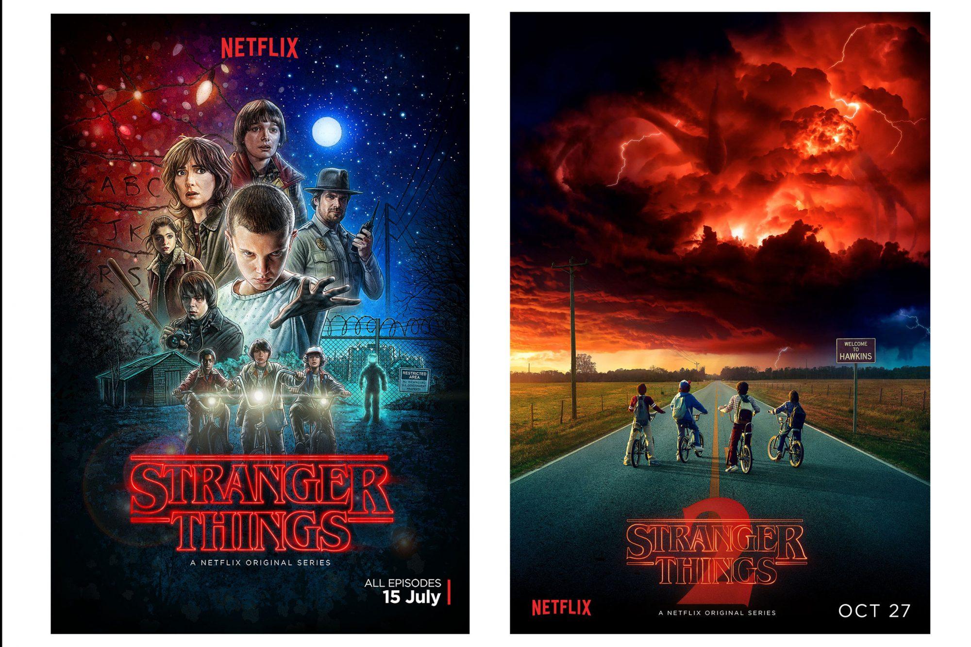 Stranger ThingsSeason 1 & 2 Posters