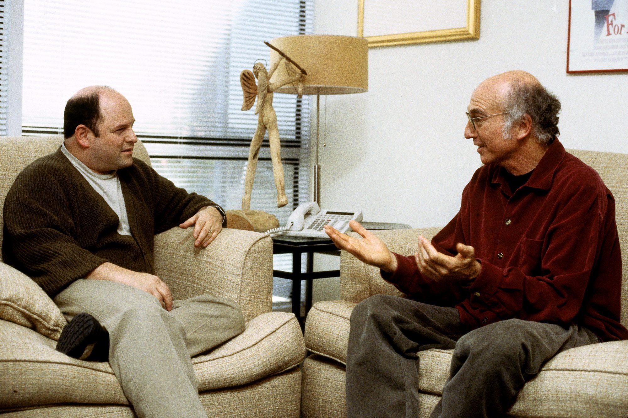 Curb Your Enthusiasm -Season 2 (2001)L-R: Jason Alexander and Larry David