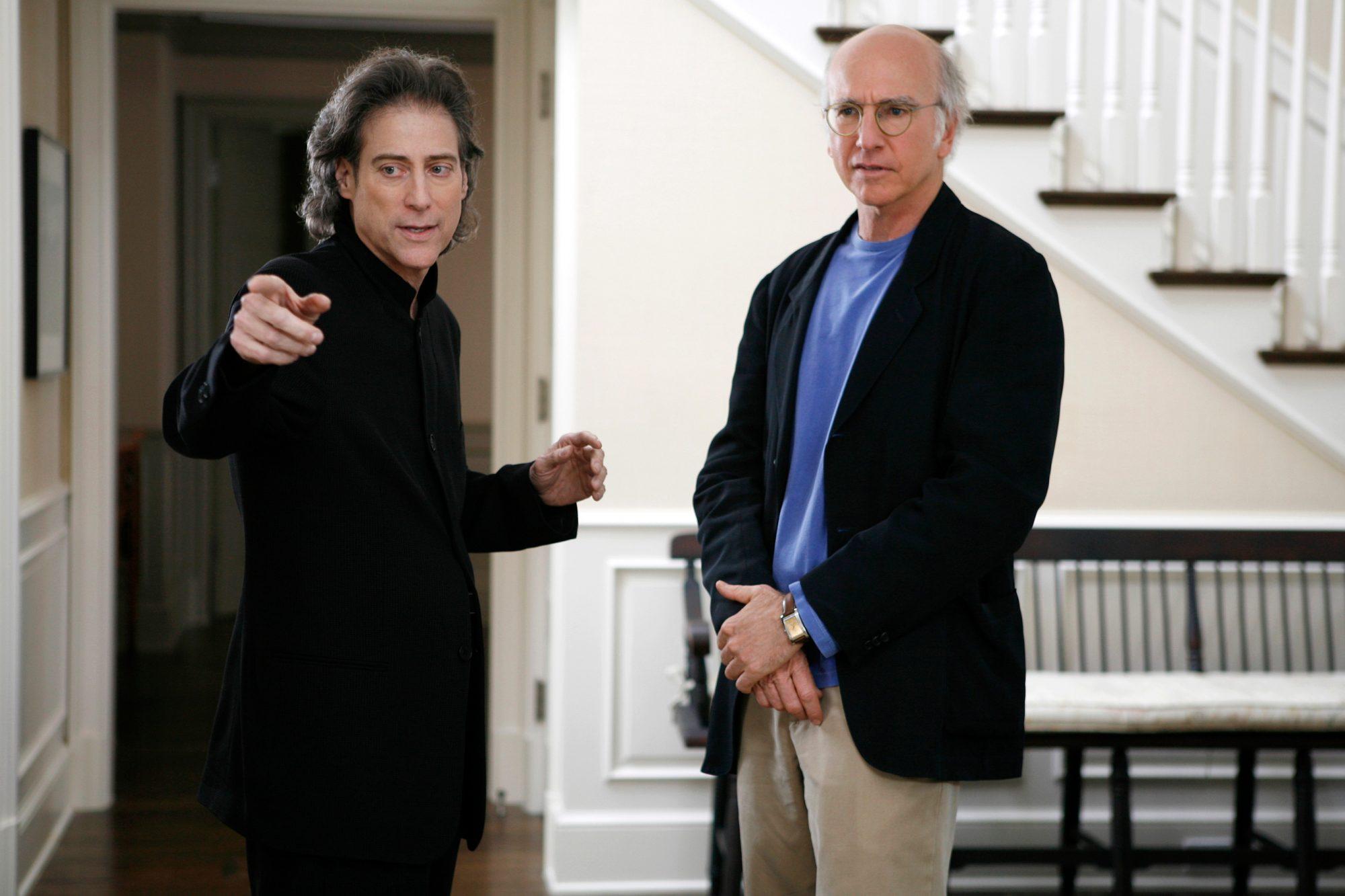 CURB YOUR ENTHUSIASM: Richard Lewis, Larry David. photo: Claudette Barius