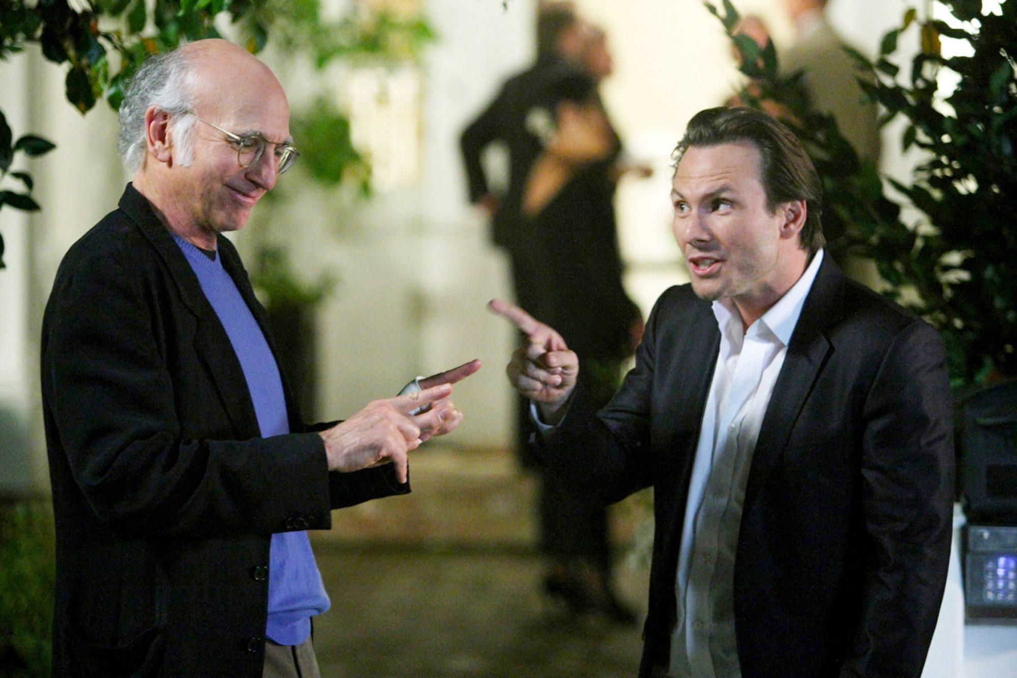 CURB YOUR ENTHUSIASM: Larry David, Christian Slater. photo: Doug Hyun