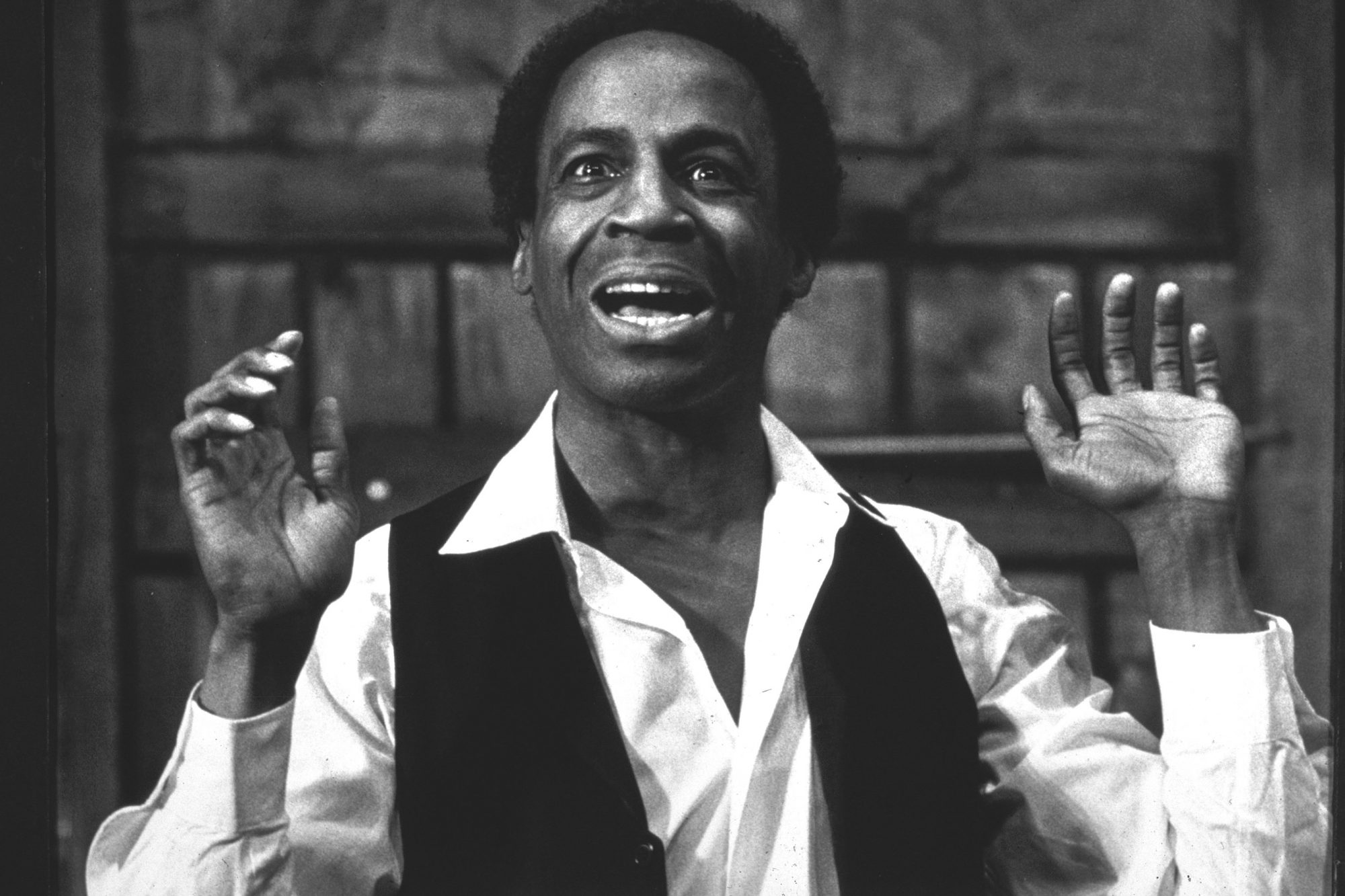 Actor Robert Guillaume in a scene from the stage m