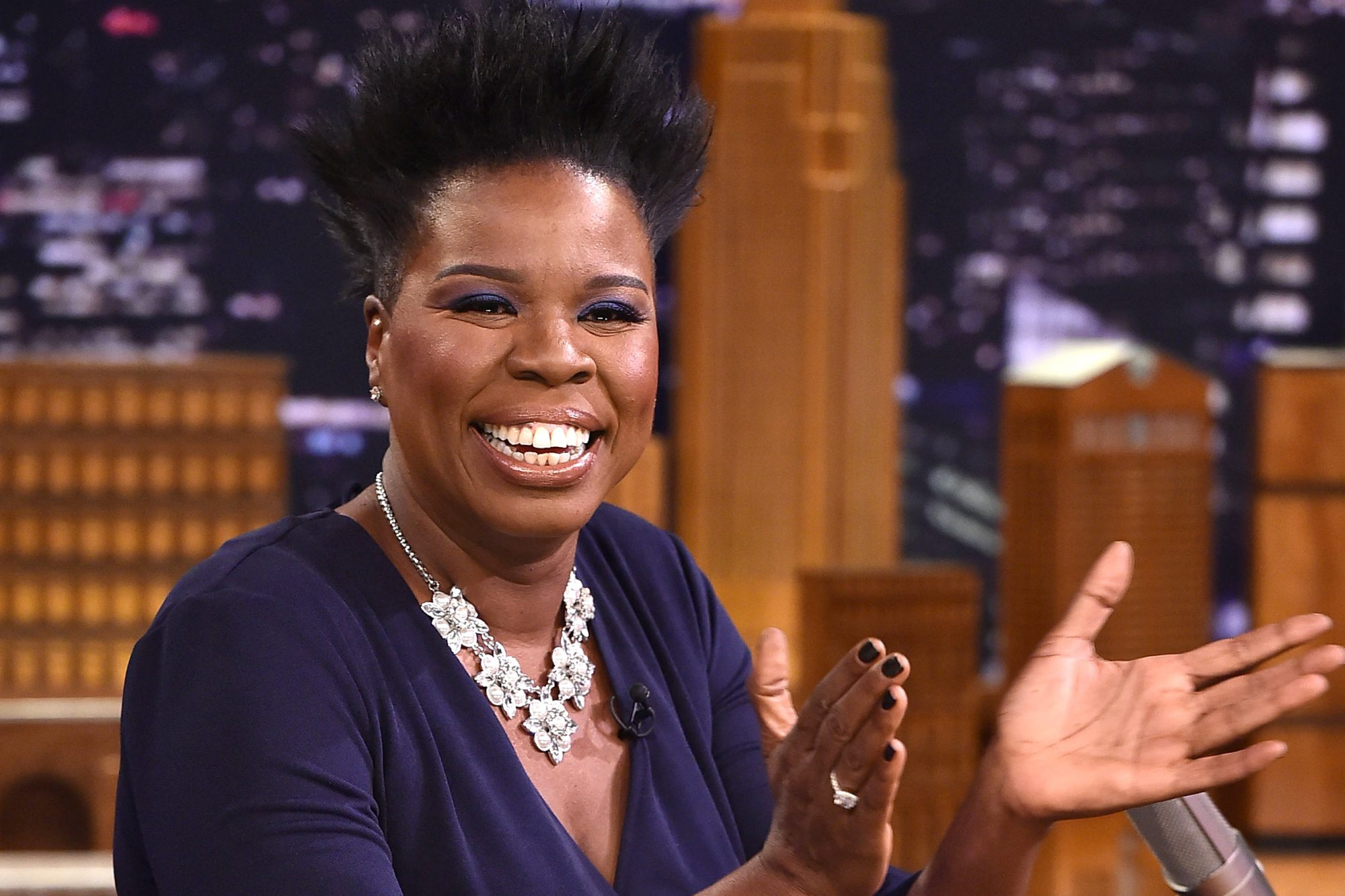 "Leslie Jones Visits ""The Tonight Show Starring Jimmy Fallon"""