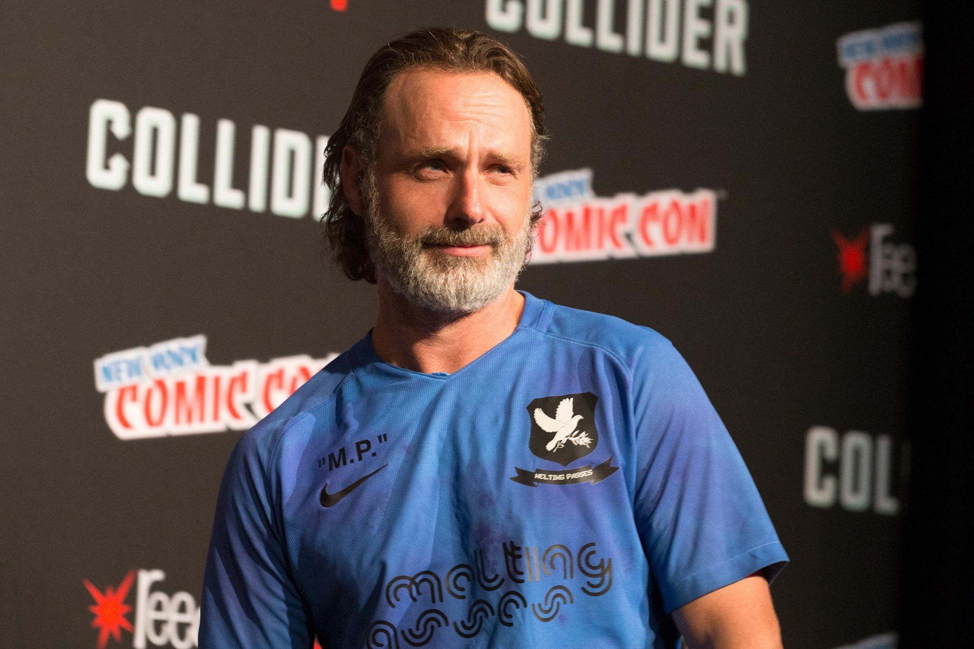 Andrew Lincoln attends The Walking Dead panel at The Theater