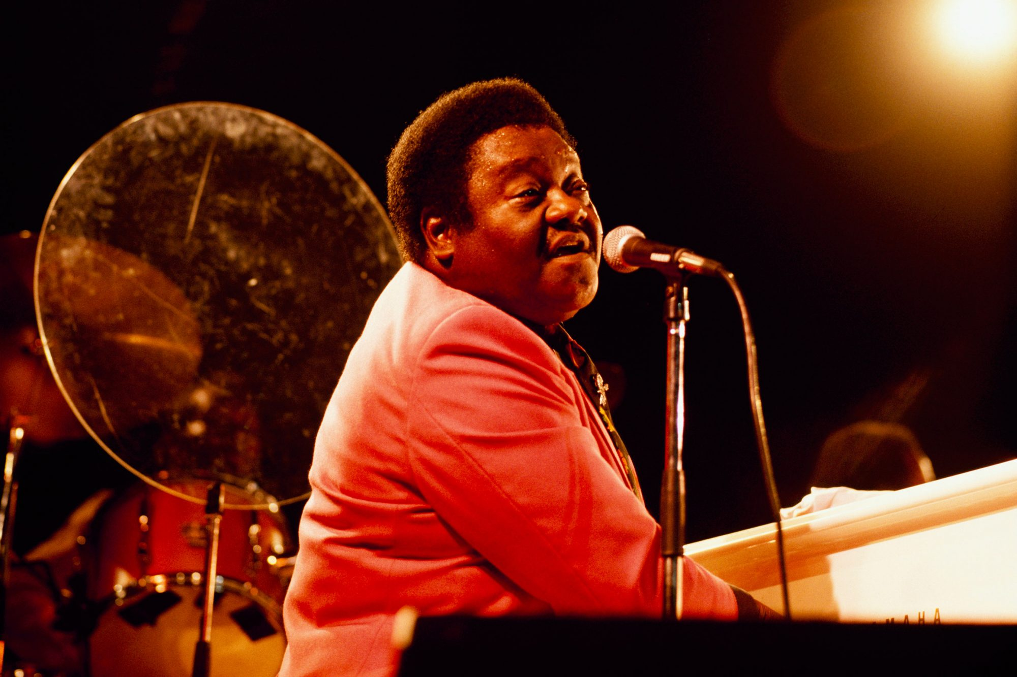 Fats Domino Performs On Stage