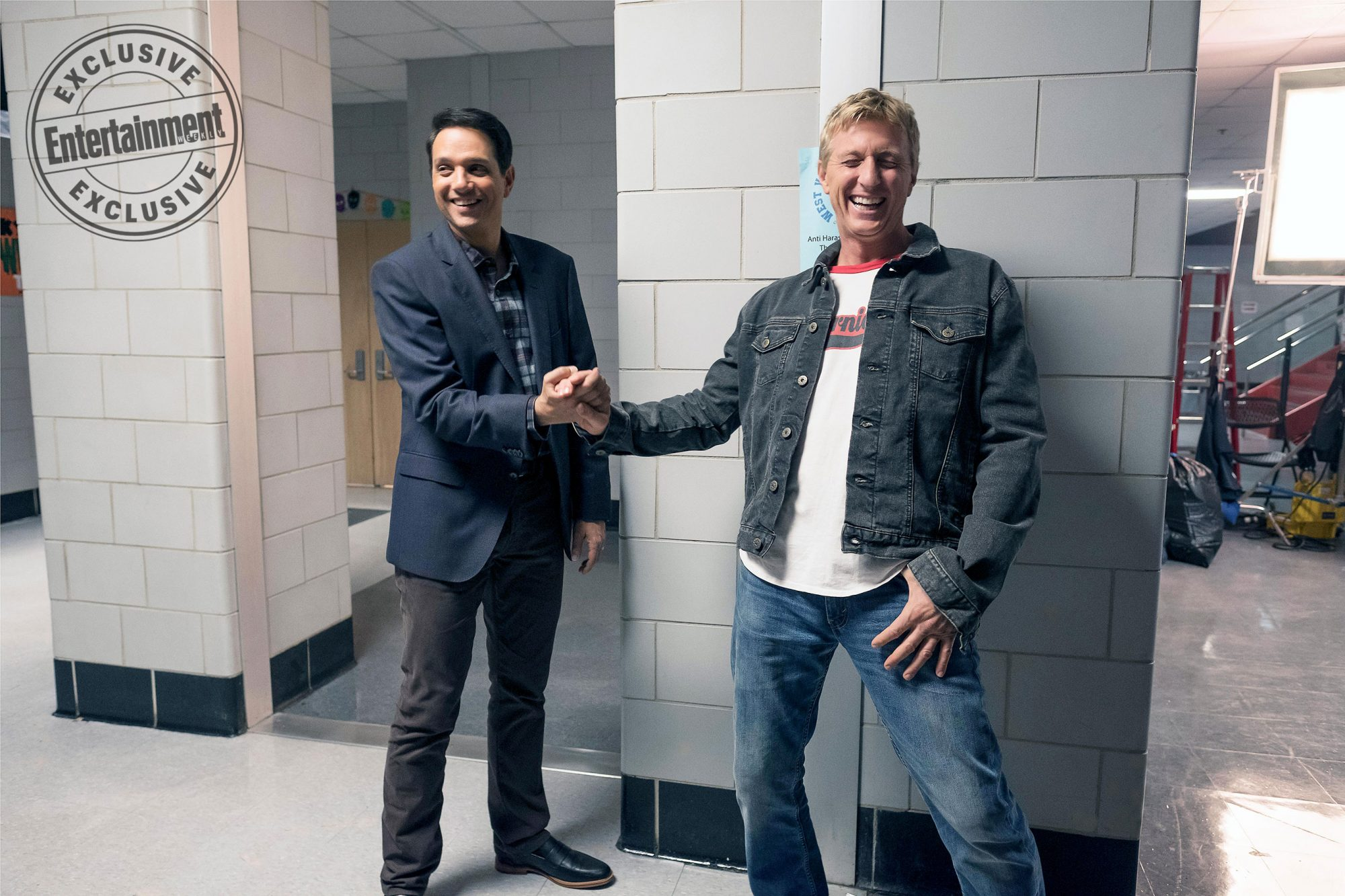 Ralph Macchio, William Zabka reunite in BTS photo