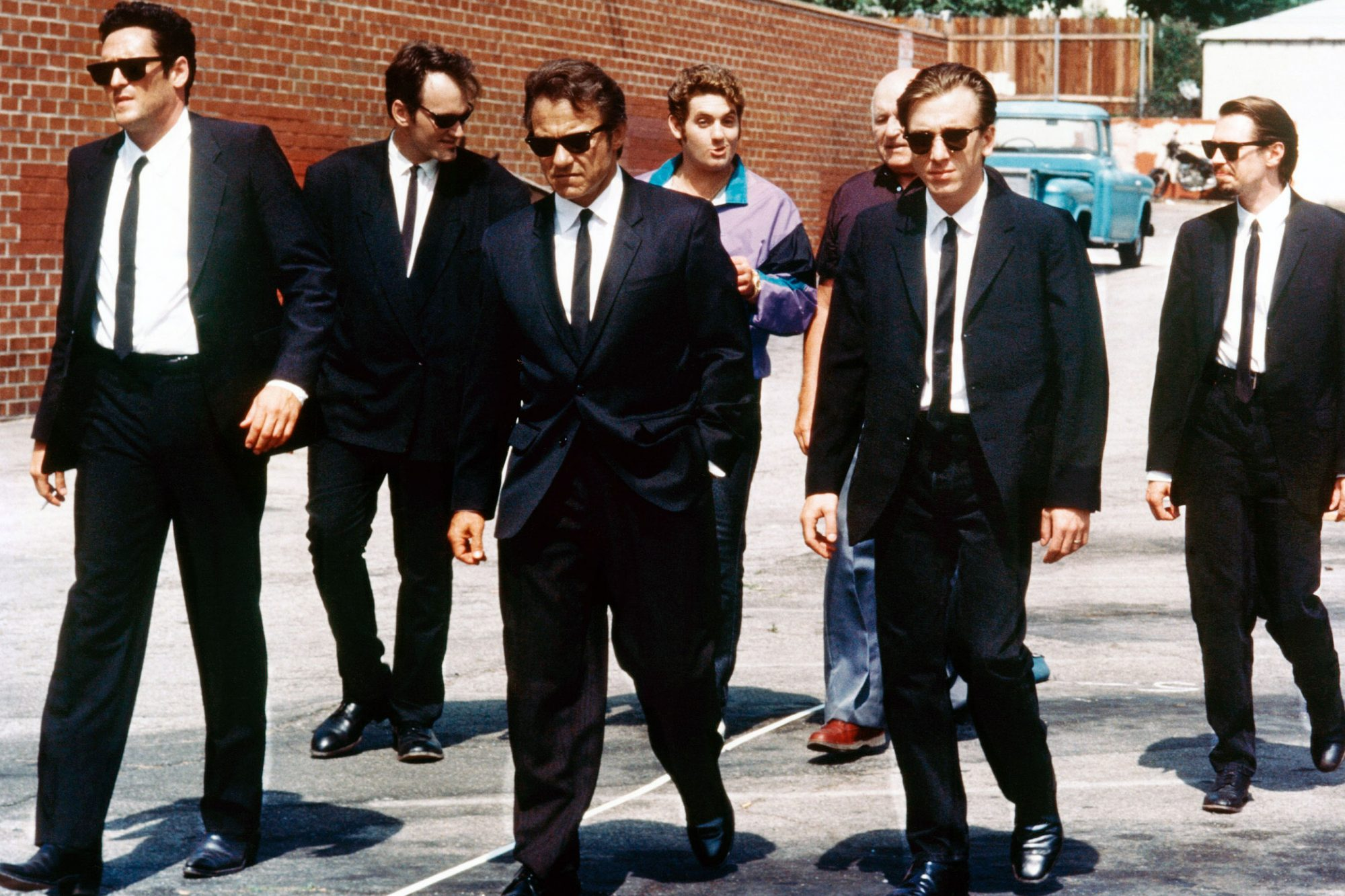 RESERVOIR DOGS, Michael  Madsen, Quentin Tarantino, Harvey Keitel, Christopher Penn, Lawrence Tierne