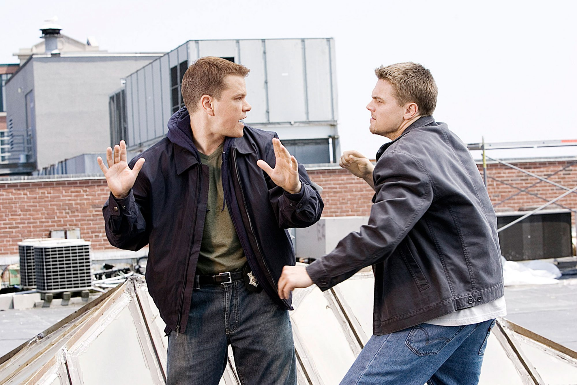 THE DEPARTED, Matt Damon, Leonardo Di Caprio, 2006, ©Warner Bros./courtesy Everett Collection