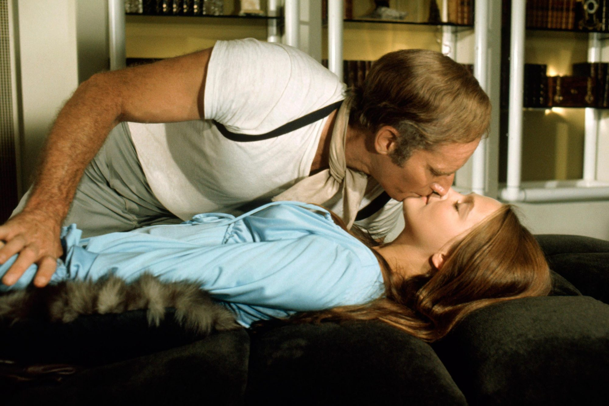 SOYLENT GREEN, from top: Charlton Heston, Leigh Taylor-Young, 1973