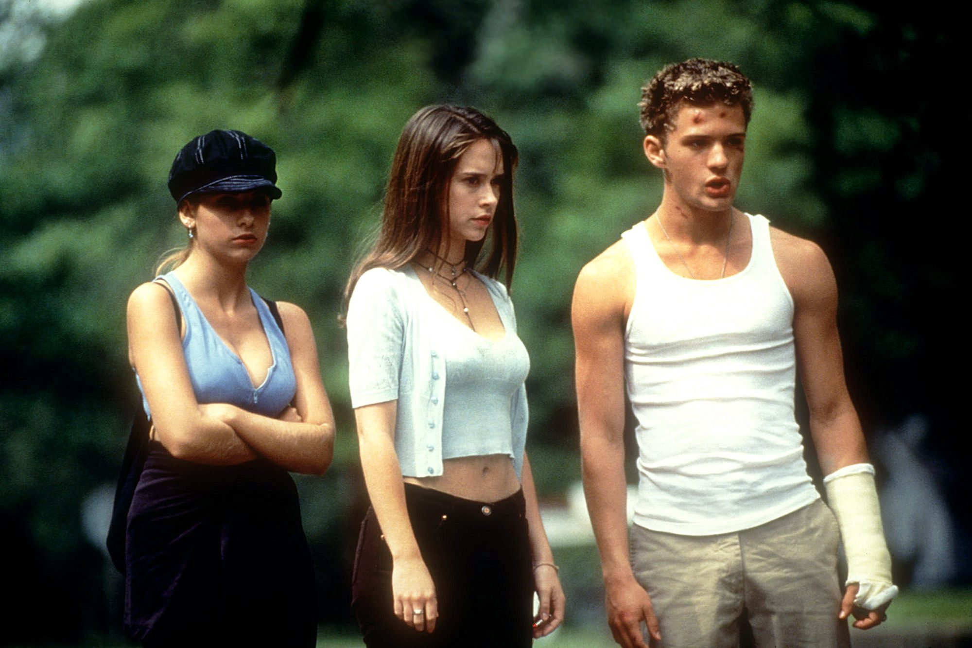 I KNOW WHAT YOU DID LAST SUMMER, Sarah Michelle Gellar, Jennifer Love Hewitt, Ryan Philippe, 1997