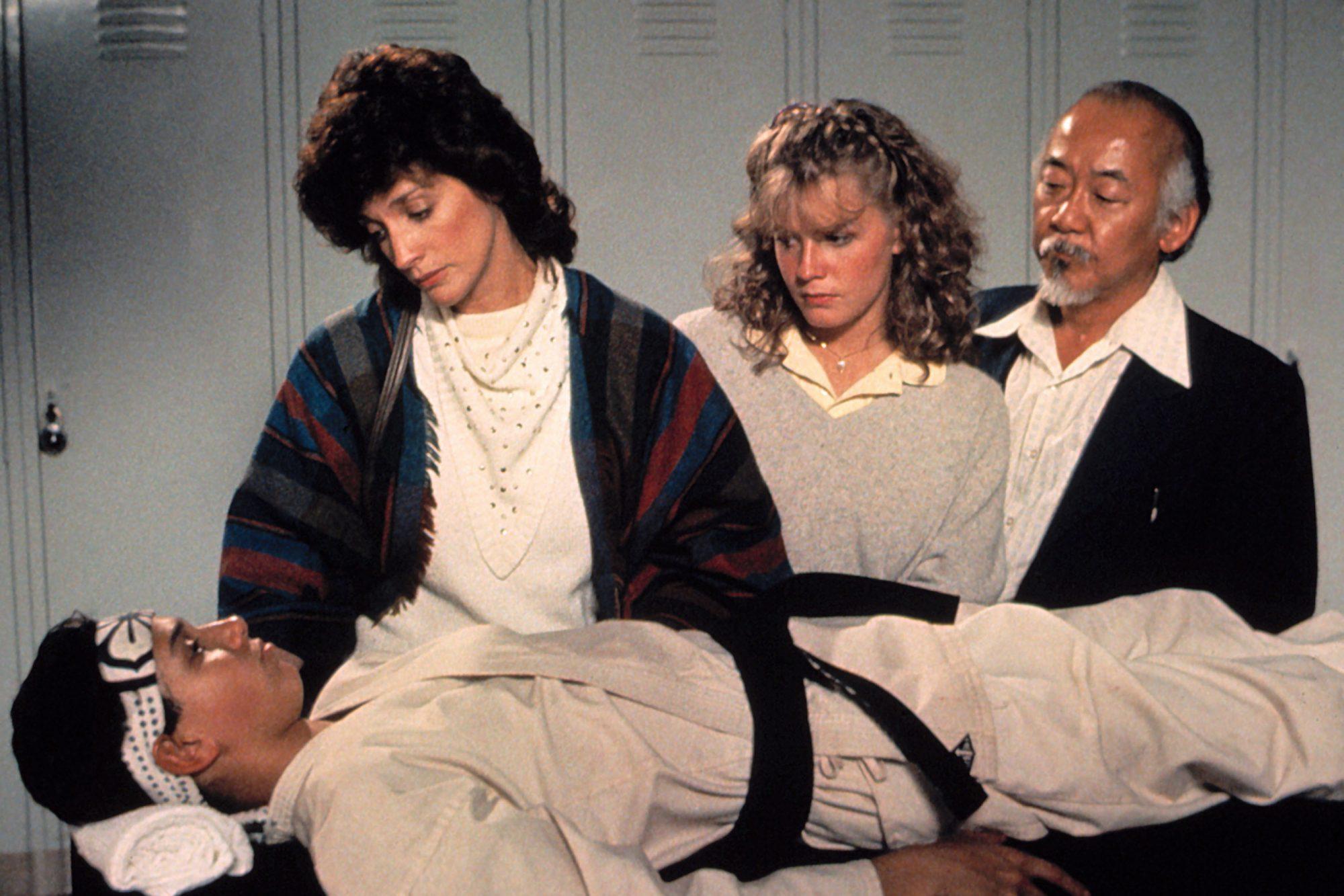 THE KARATE KID, Ralph Macchio, Randee Heller, Elisabeth Shue, Pat Morita, 1984. ©Columbia Pictures/C
