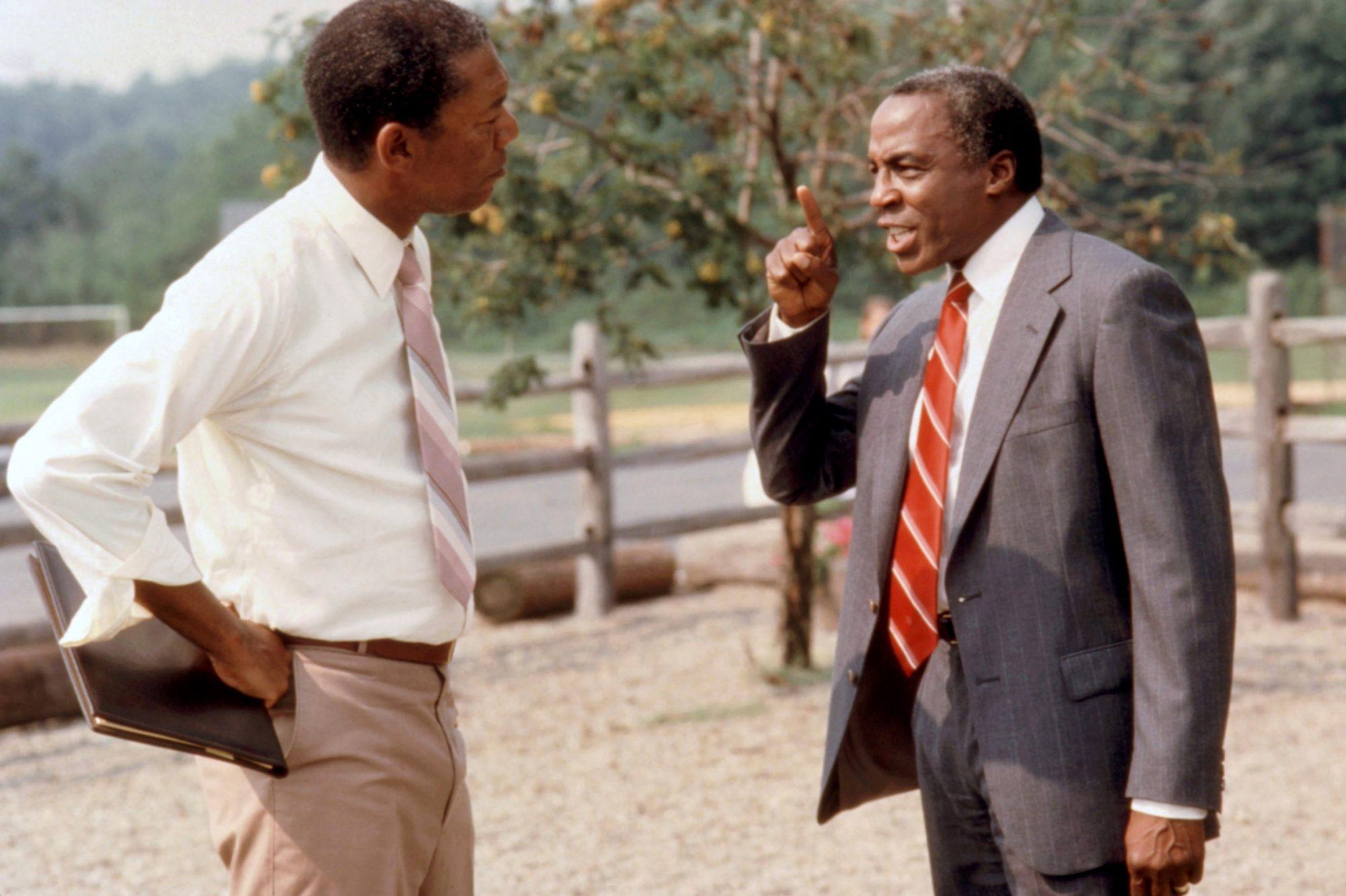 LEAN ON ME, Morgan Freeman, Robert Guilluame, 1989.  ©Warner Brothers/Courtesy Everett Collection