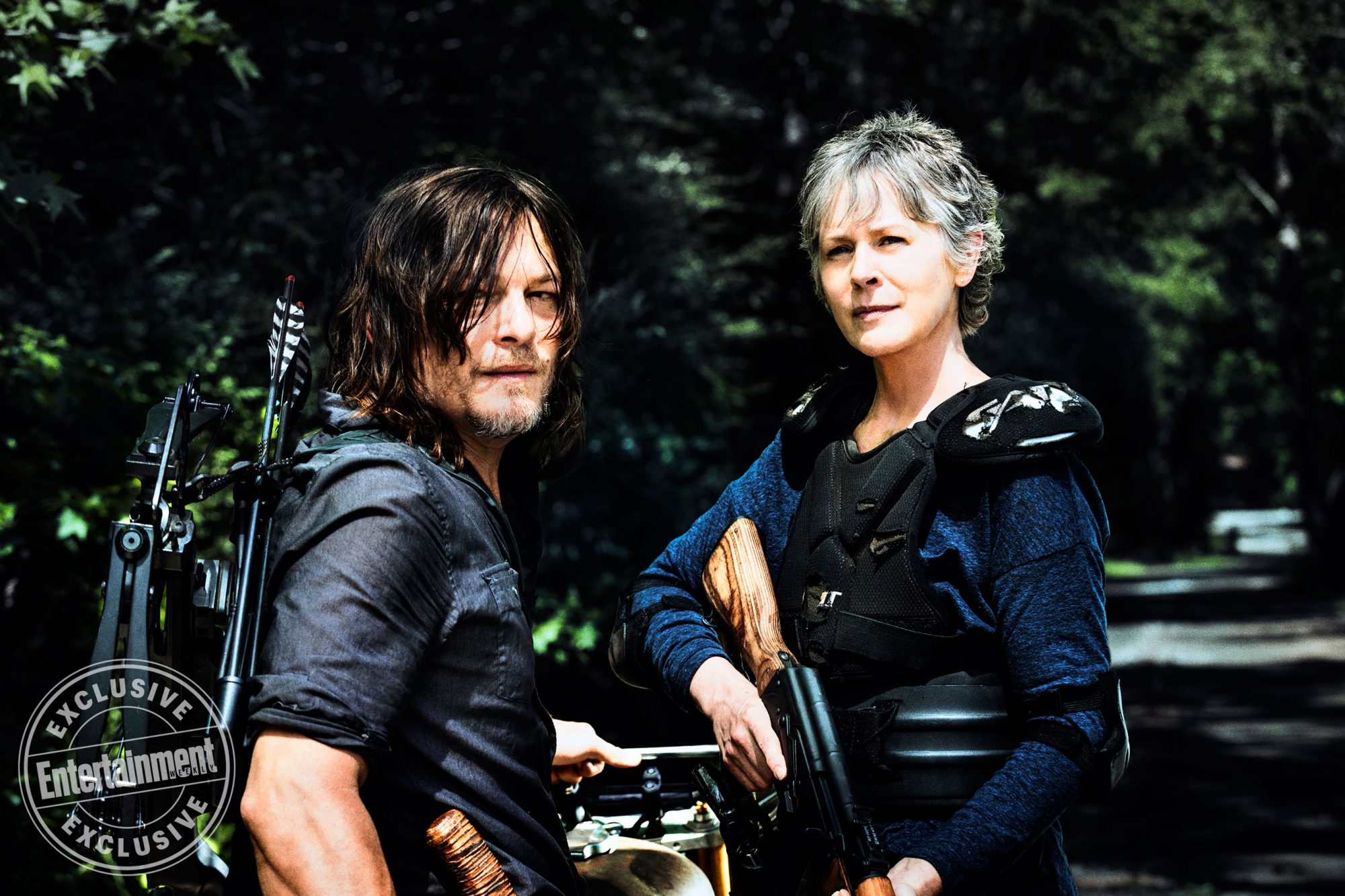 Norman-Reedus-as-Daryl-Dixon,-Melissa-McBride-as-Carol-Peletier --The-Walking-Dead-_-Season-8,-Gallery---Photo-Credit-Alan-Clarke,-AMC_2