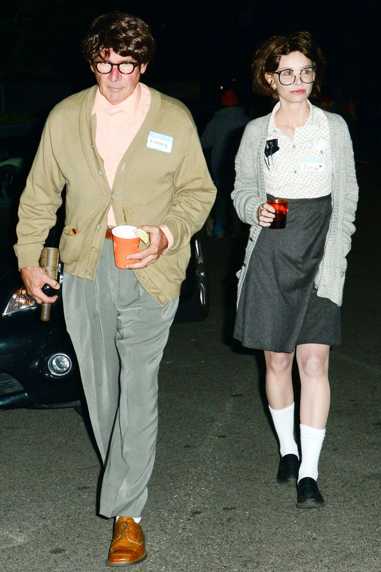 Harrison Ford and Calista Flockhart in Halloween costume, California, America - 31 Oct 2012