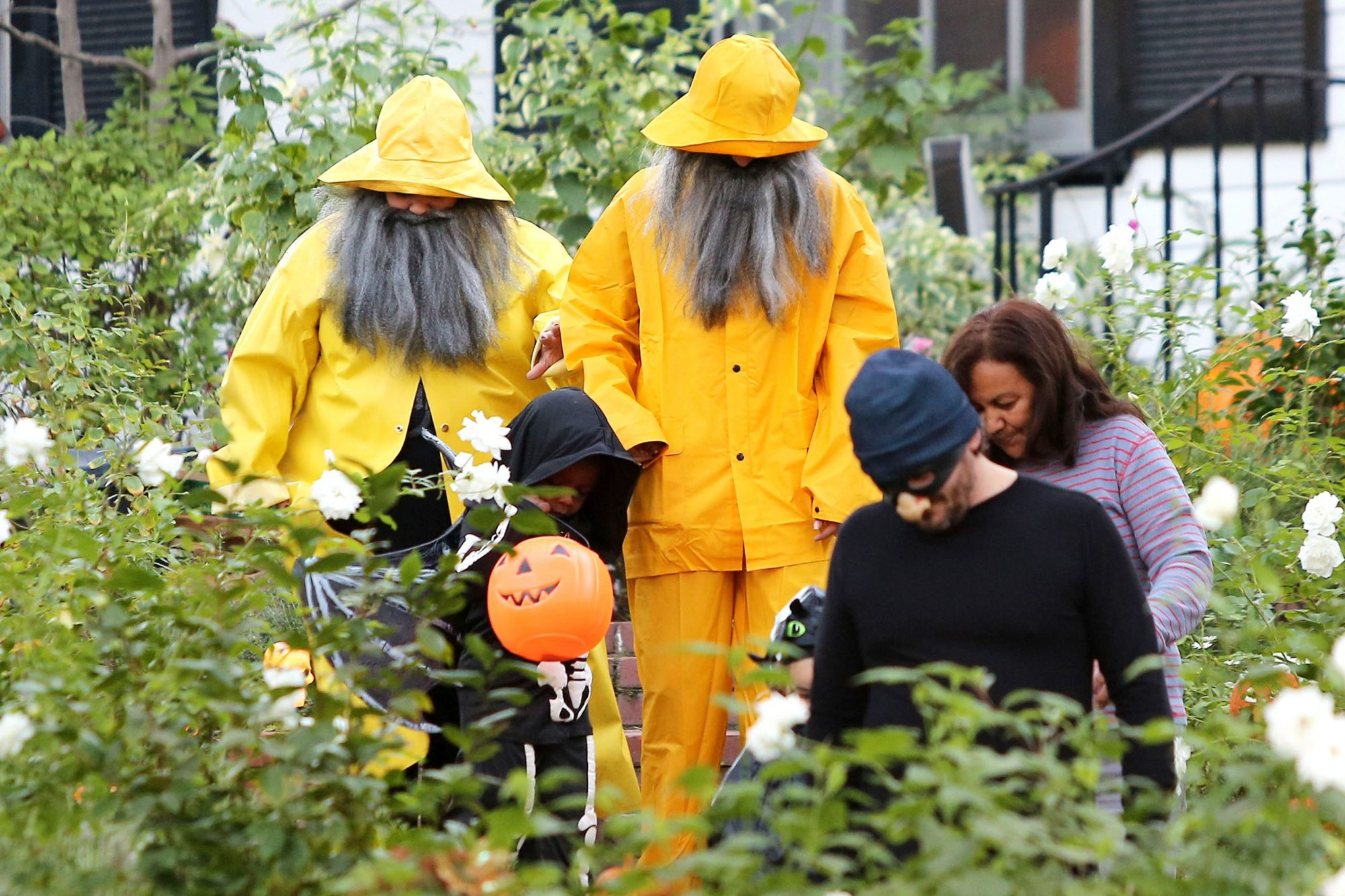 Sandra Bullock and son Louis out trick-or-treating, Los Angeles, America - 31 Oct 2013