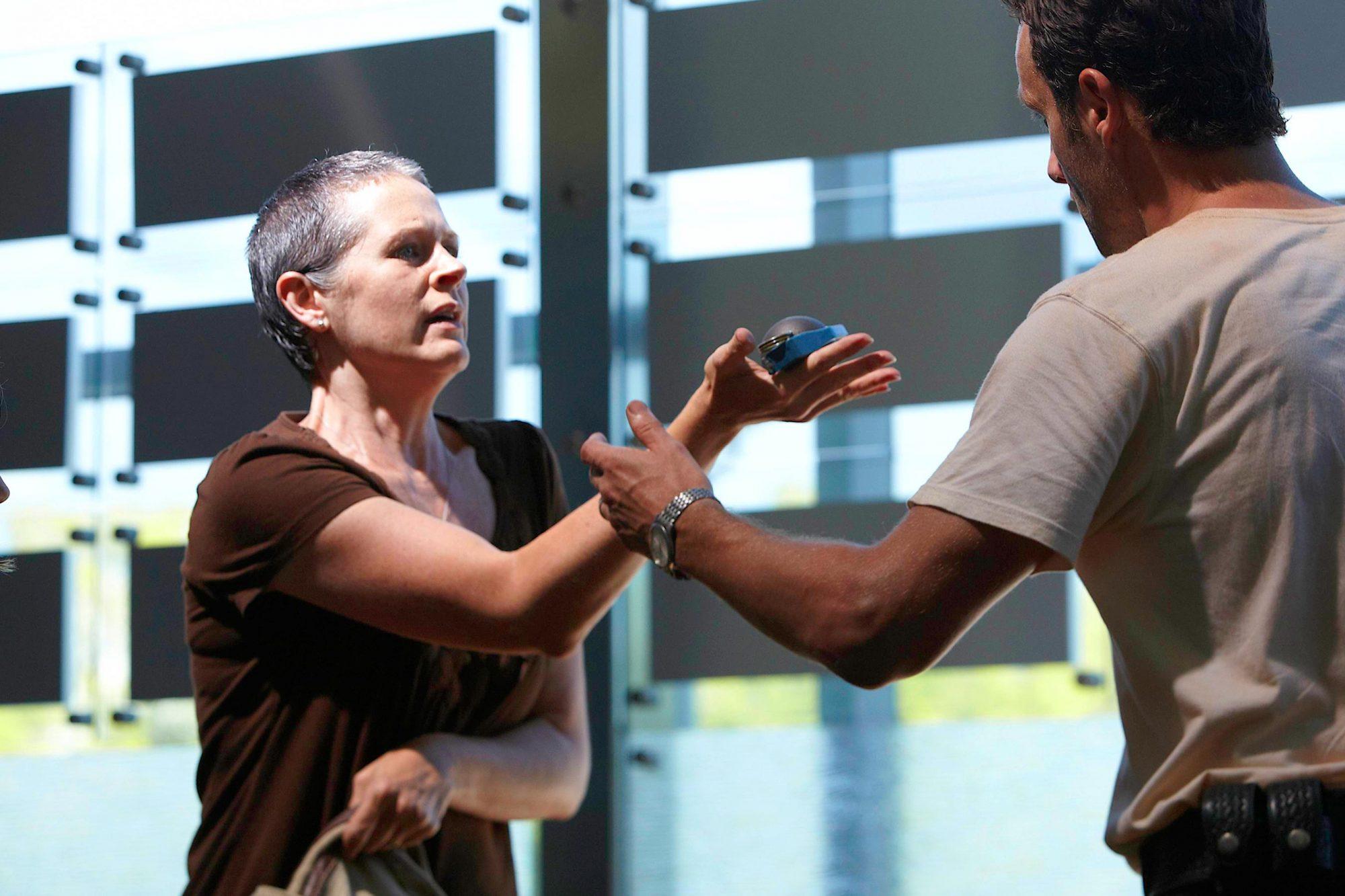 Carol (Melissa Suzanne McBride) and Rick Grimes (Andrew Lincoln)