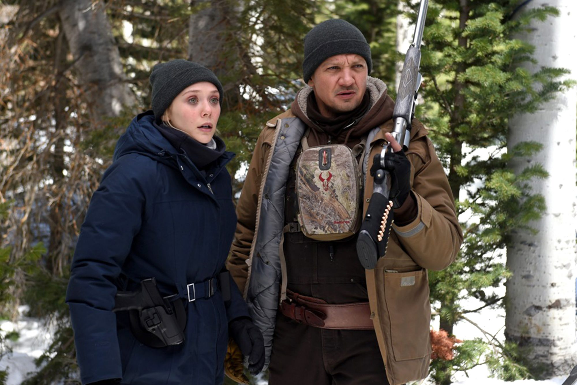 Elizabeth Olsen and Jeremy Renner star in Wind RiverPhoto: Fred