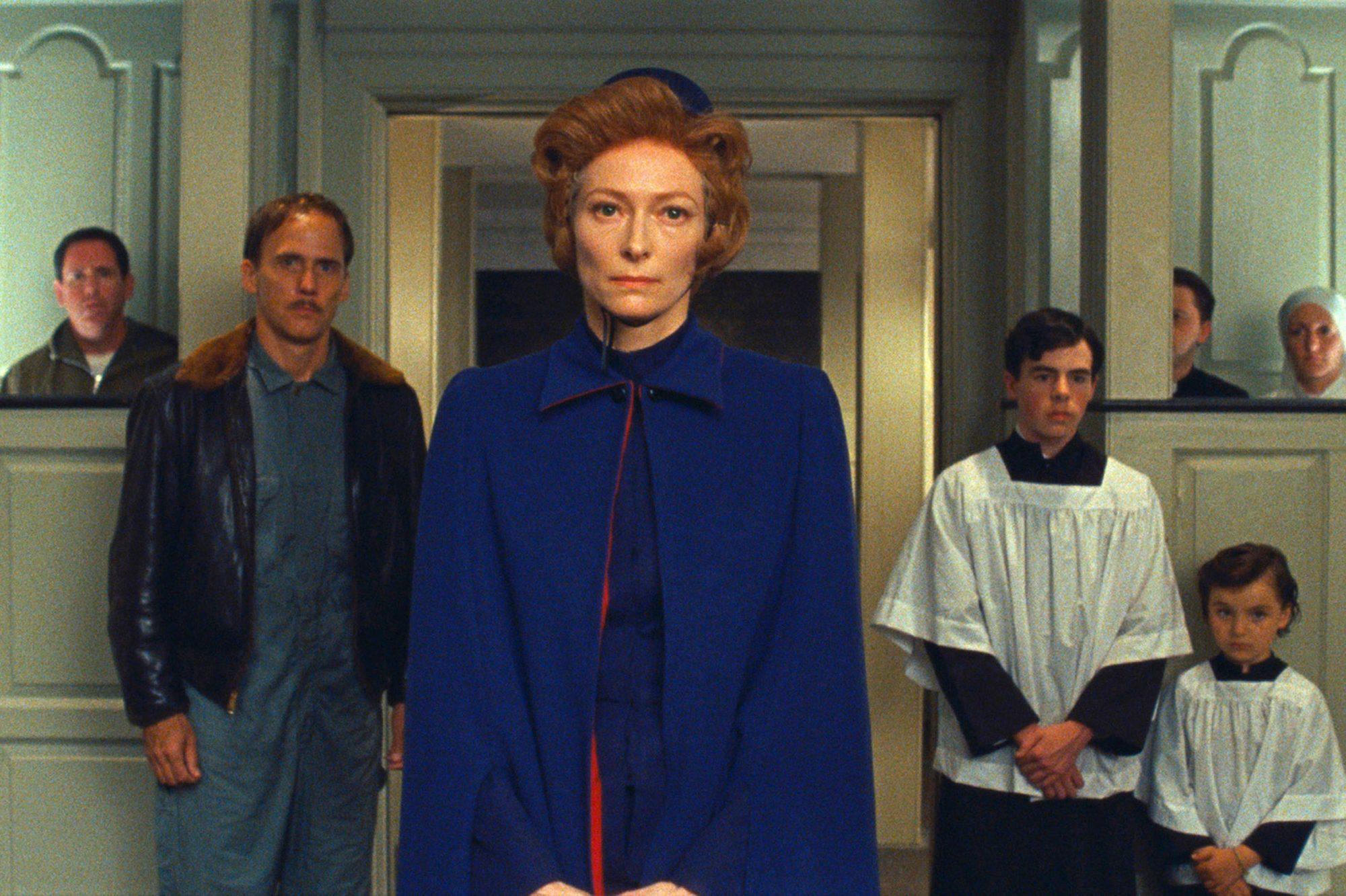 MOONRISE KINGDOM (2012)Tilda Swinton (at center) stars as Social Services