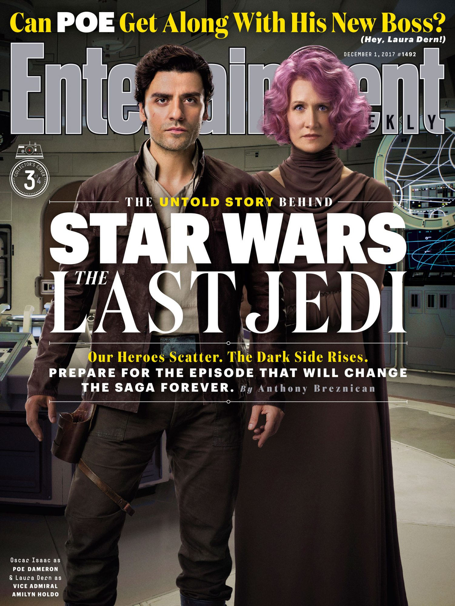 Poe Dameron and Admiral Holdo