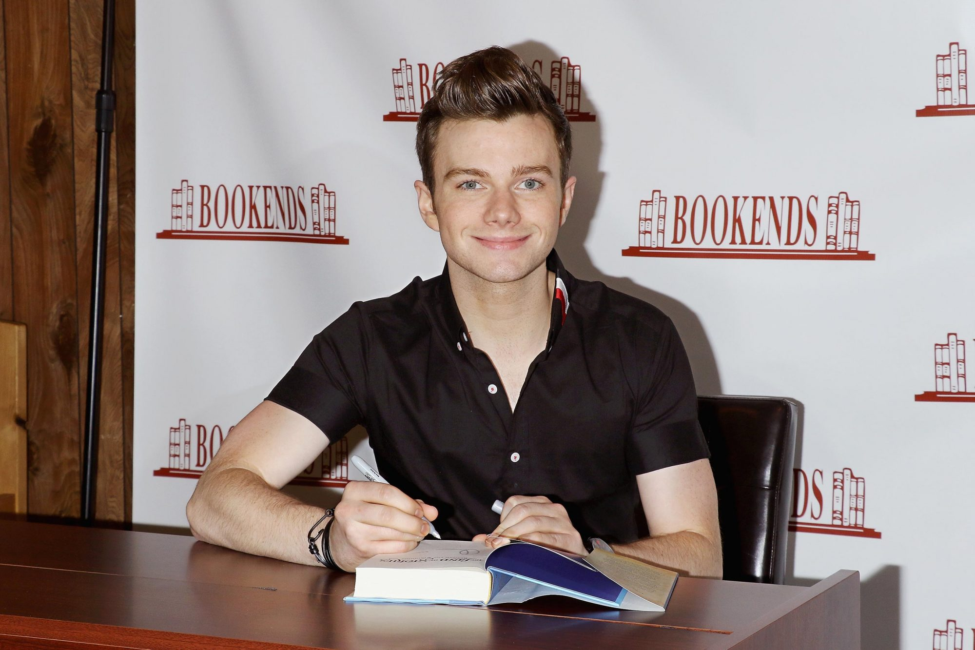 "Chris Colfer Signs Copies of His New Book ""The Land of Stories: Beyond the Kingdoms"""