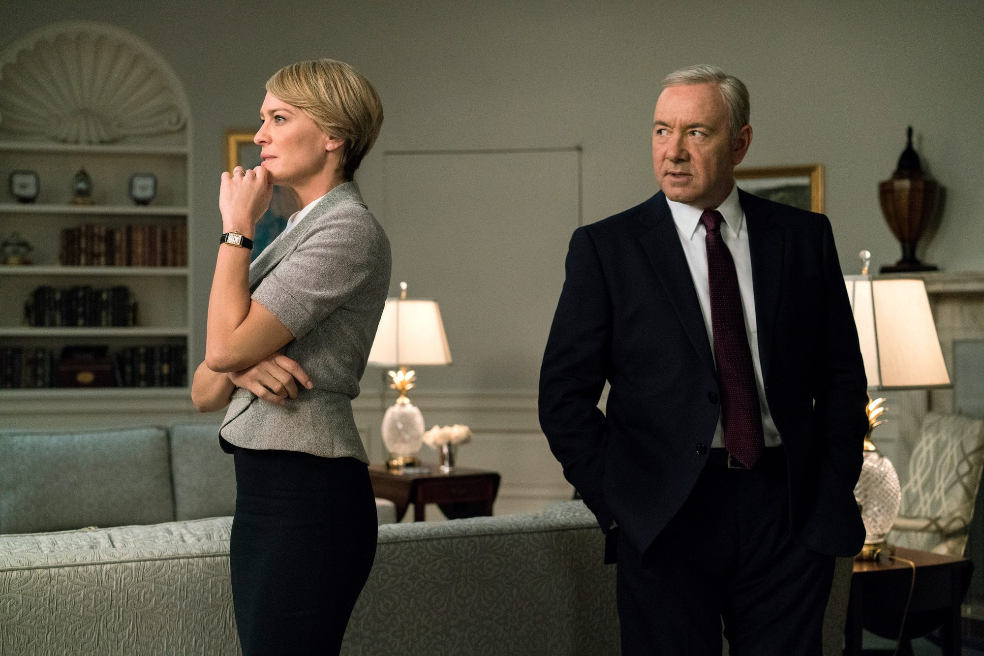 HOUSE OF CARDSRobin Wright and Kevin Spacey