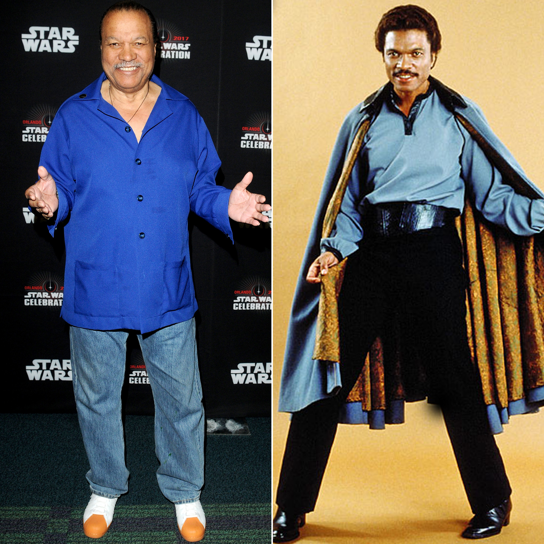 Billy Dee Williams and Lando Calrissian
