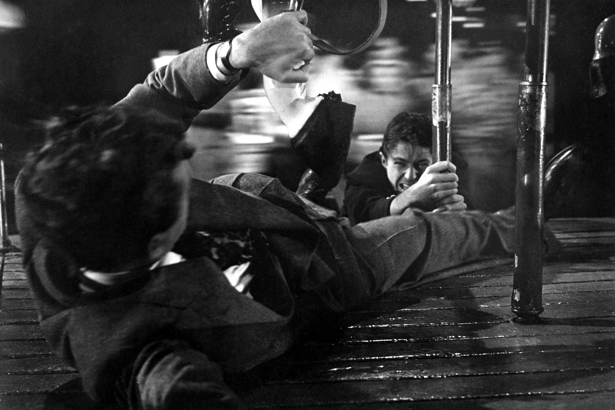 STRANGERS ON A TRAIN, Robert Walker, Farley Granger, 1951.