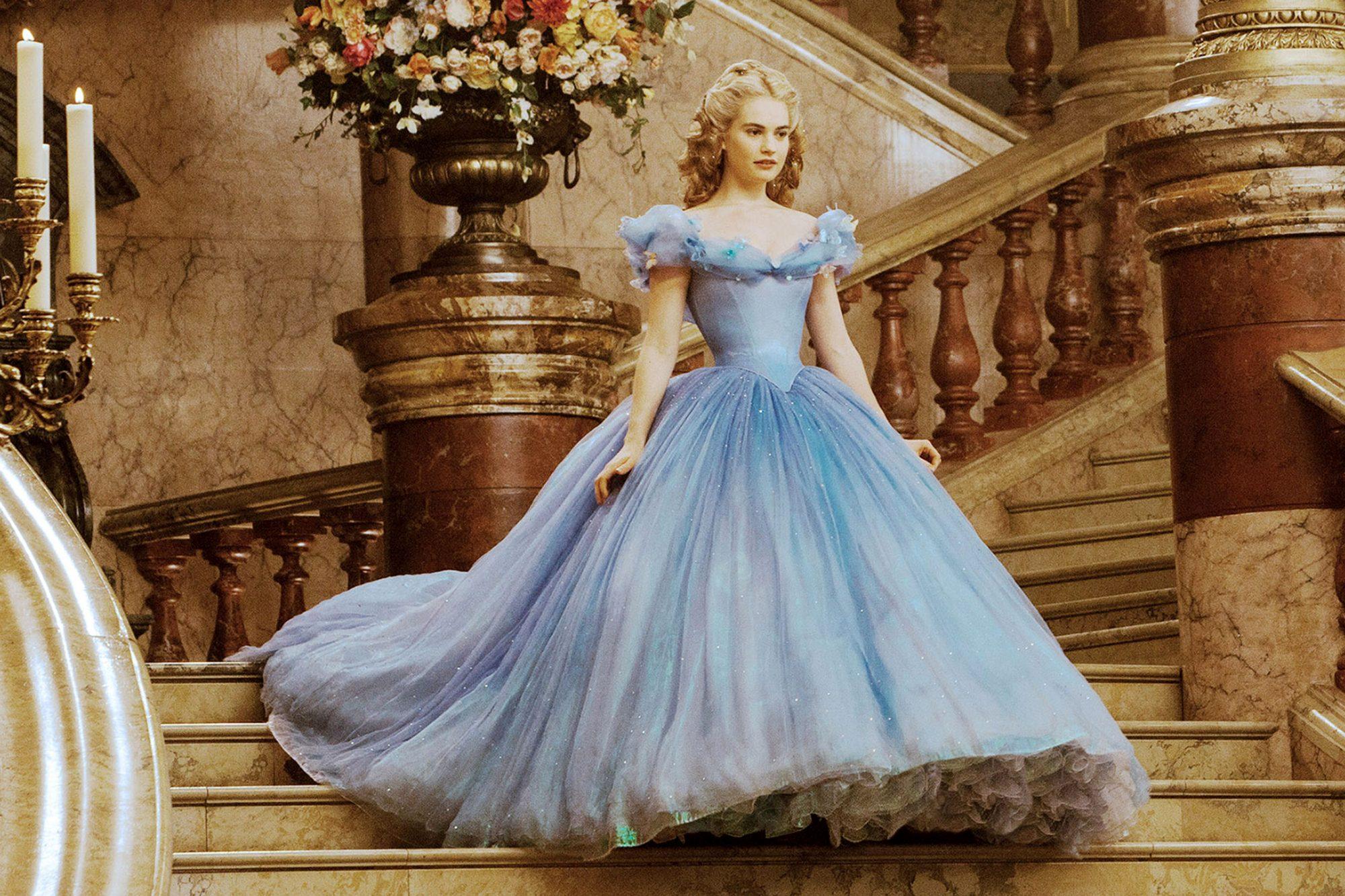 CINDERELLA, Lily James as Cinderella, 2015. ph: Jonathan Olley/©Walt Disney Studios Motion