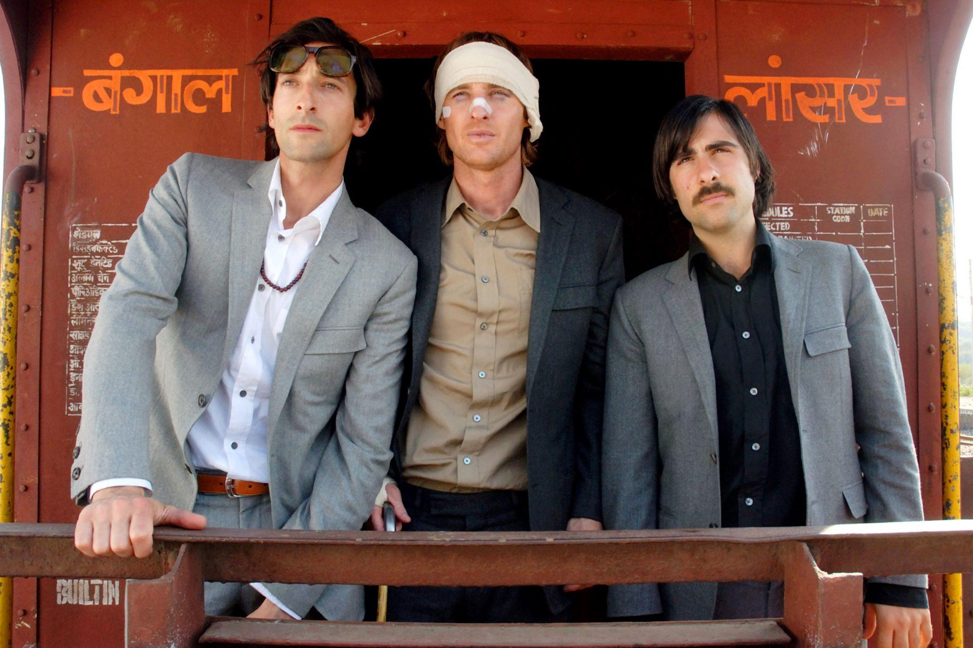 THE DARJEELING LIMITED,  Adrien Brody, Owen Wilson, Jason Schwartzman, 2007. ©Fox Searchlight/courte