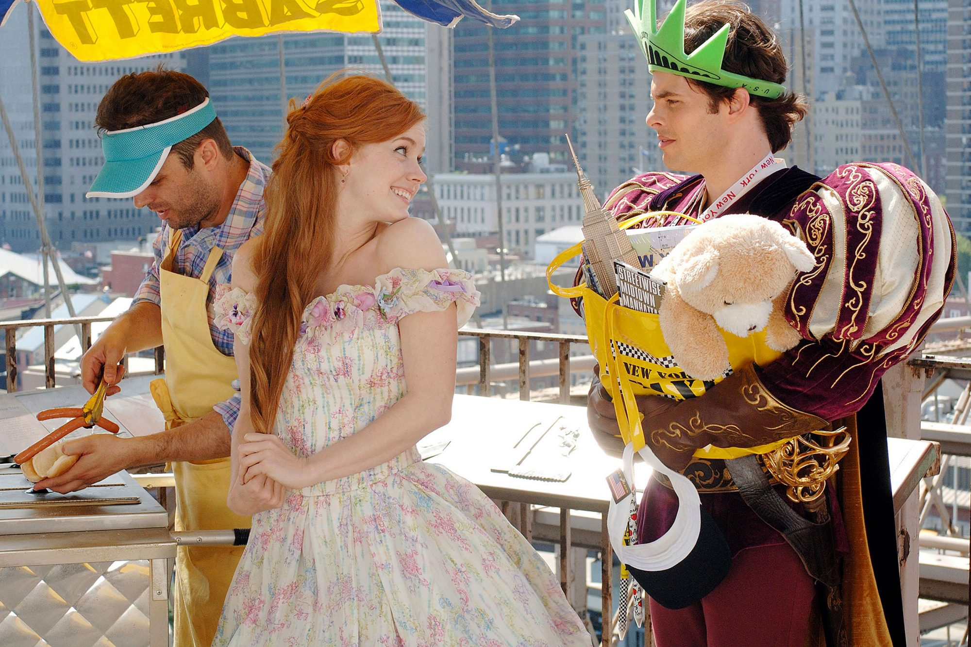 ENCHANTED, Amy Adams (center), James Marsden (right), 2007. ©Buena Vista Pictures/courtesy Everett C