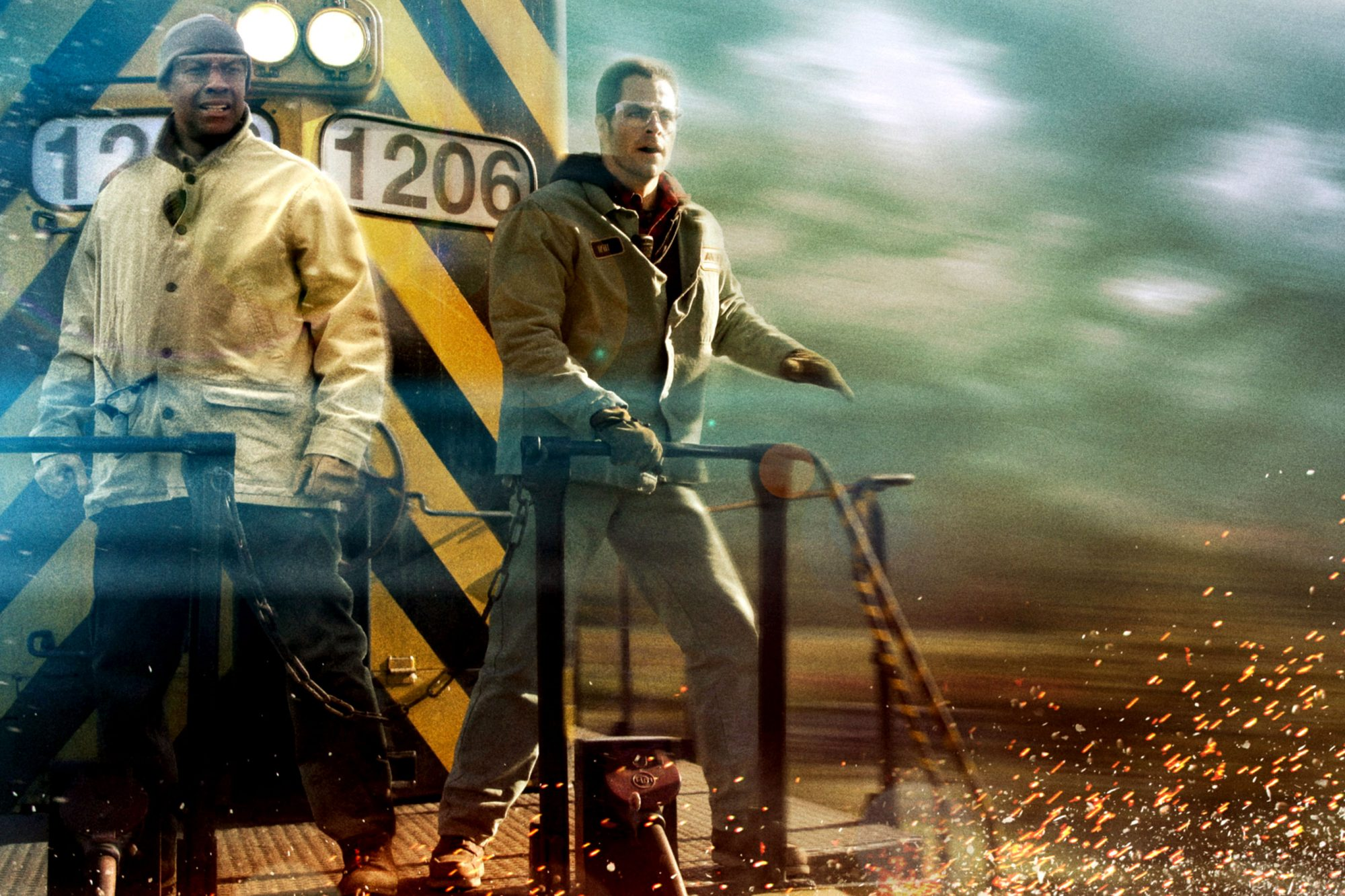 UNSTOPPABLE, l-r: Denzel Washington, Chris Pine, 2010, ph: Robert Zuckerman/TM and Copyright ©20th C