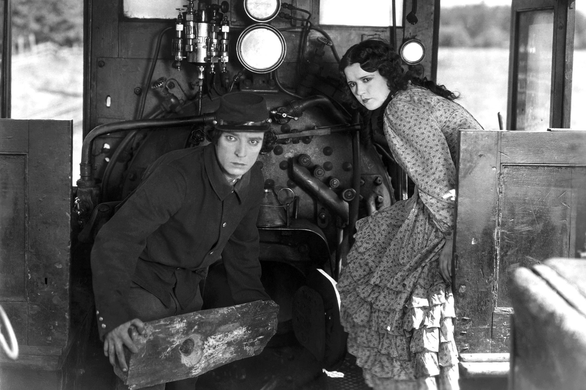 THE GENERAL, from left: Buster Keaton, Marion Mack, 1926, thegeneral1926-fsct02(thegeneral1926-fsct0