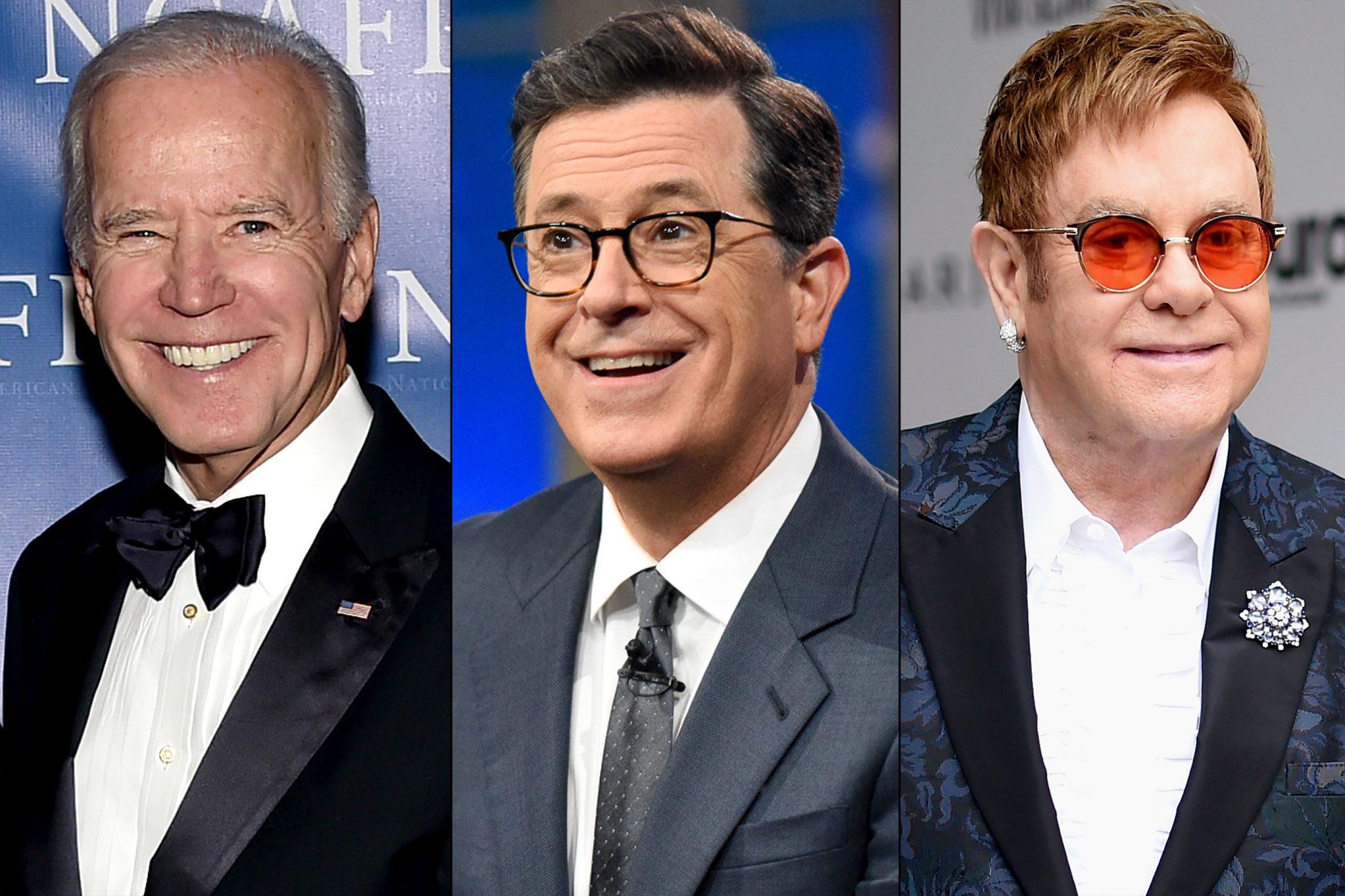 Joe Biden / Stephen Colbert / Elton John