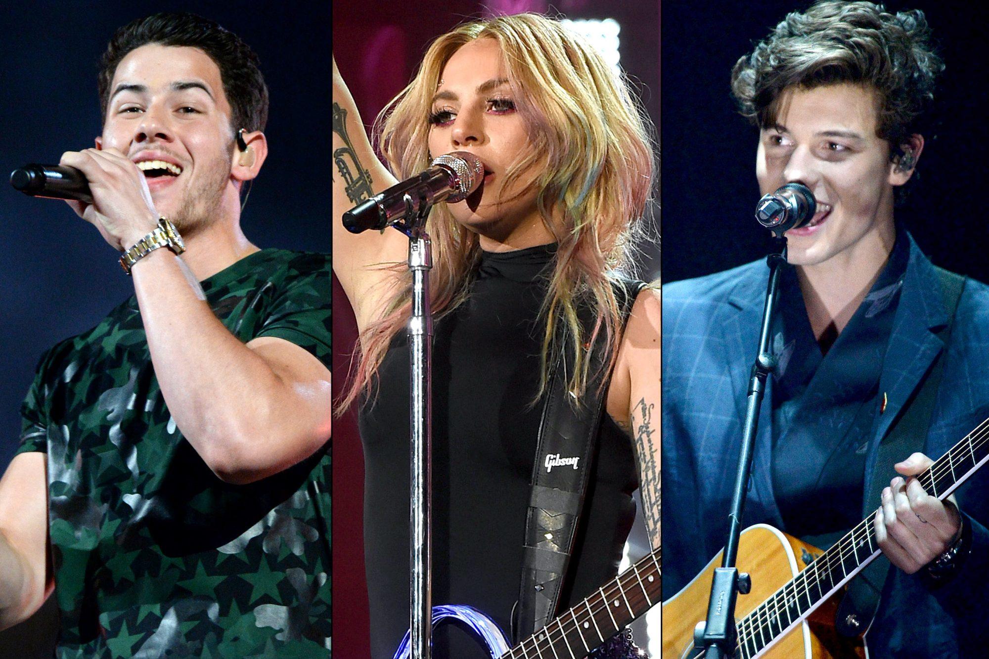 Nick Jonas / Lady Gaga / Shawn Mendez