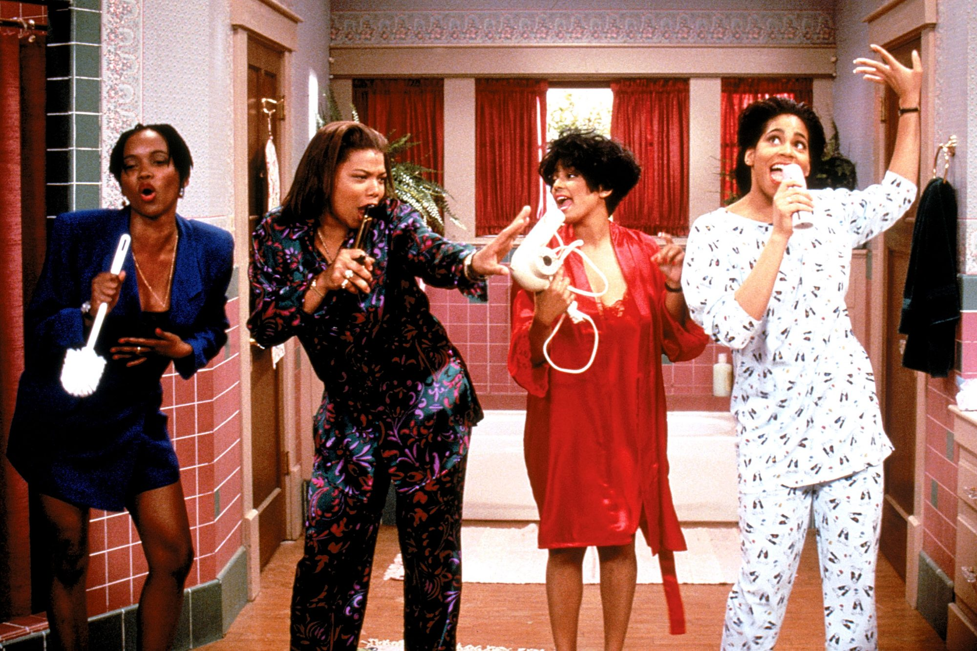 LIVING SINGLE, Erika Alexander, Queen Latifah, Kim Fields, Kim Coles, 1993-1998, (c) Warner Brothers