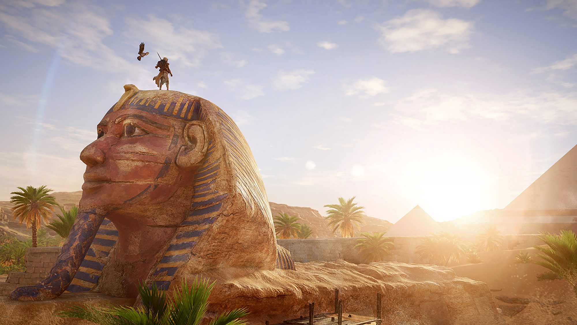 Assassin's Creed Origins Bayek and Sphinx