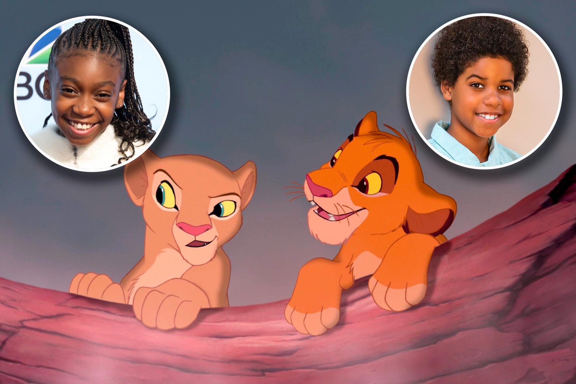 Shahadi Wright Joseph and JD McCrary as Young Nala and Young Simba