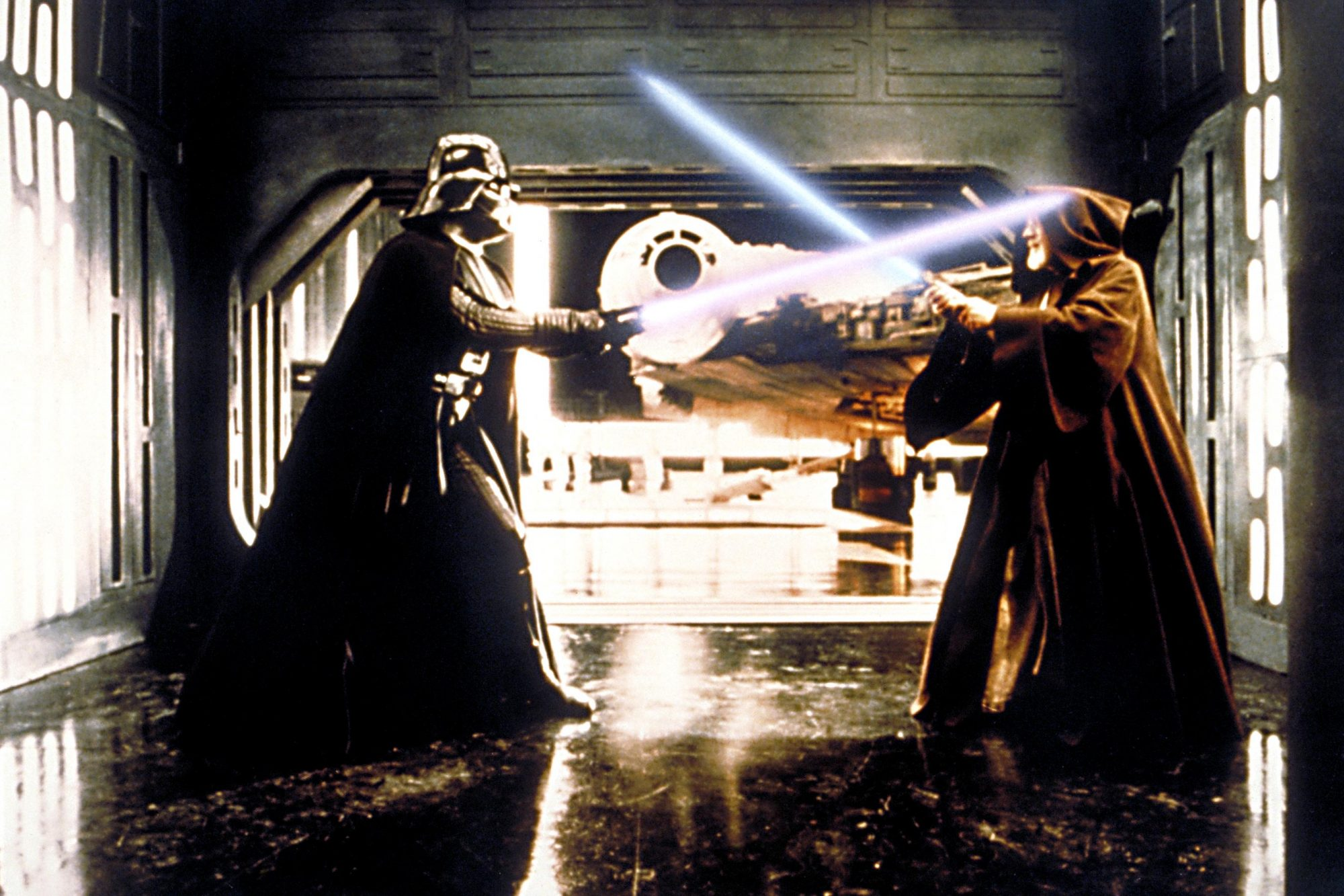 Star Wars: Episode IV - A New Hope (1977)Darth Vader (L) and Alec Guinness