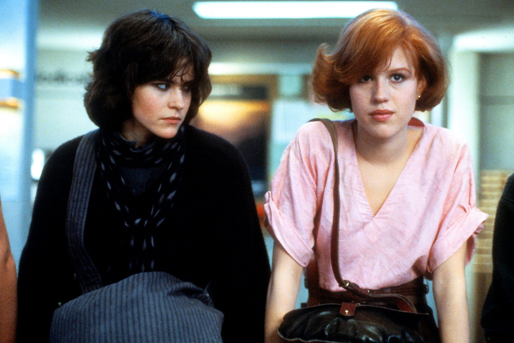 Ally Sheedy And Molly Ringwald In 'The Breakfast Club'