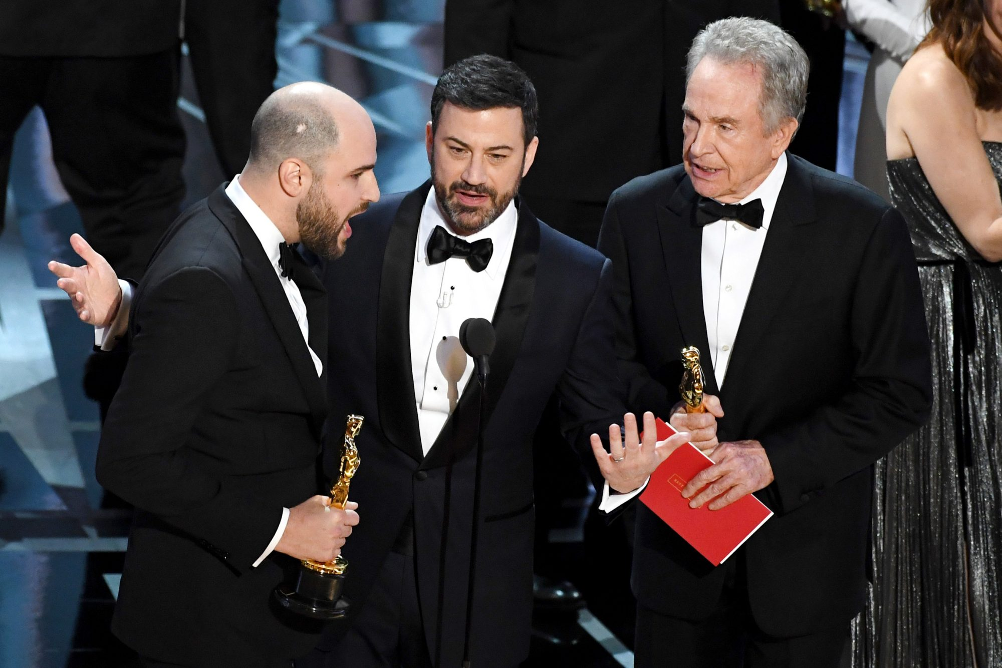 Jimmy Kimmel at Oscars during Best Picture Annoucement