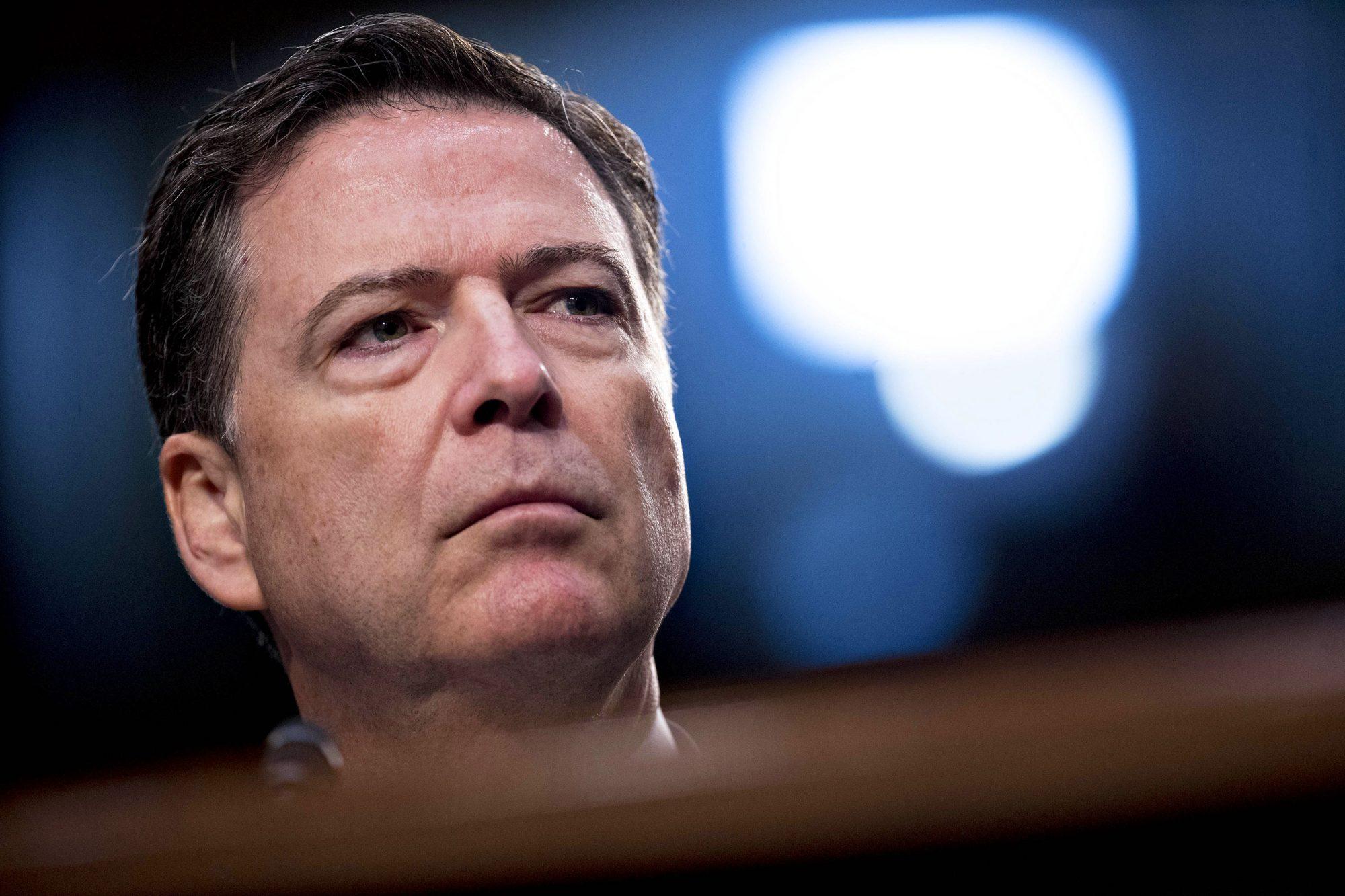 Former FBI Director James Comey Testifies Before Senate Intelligence Committee