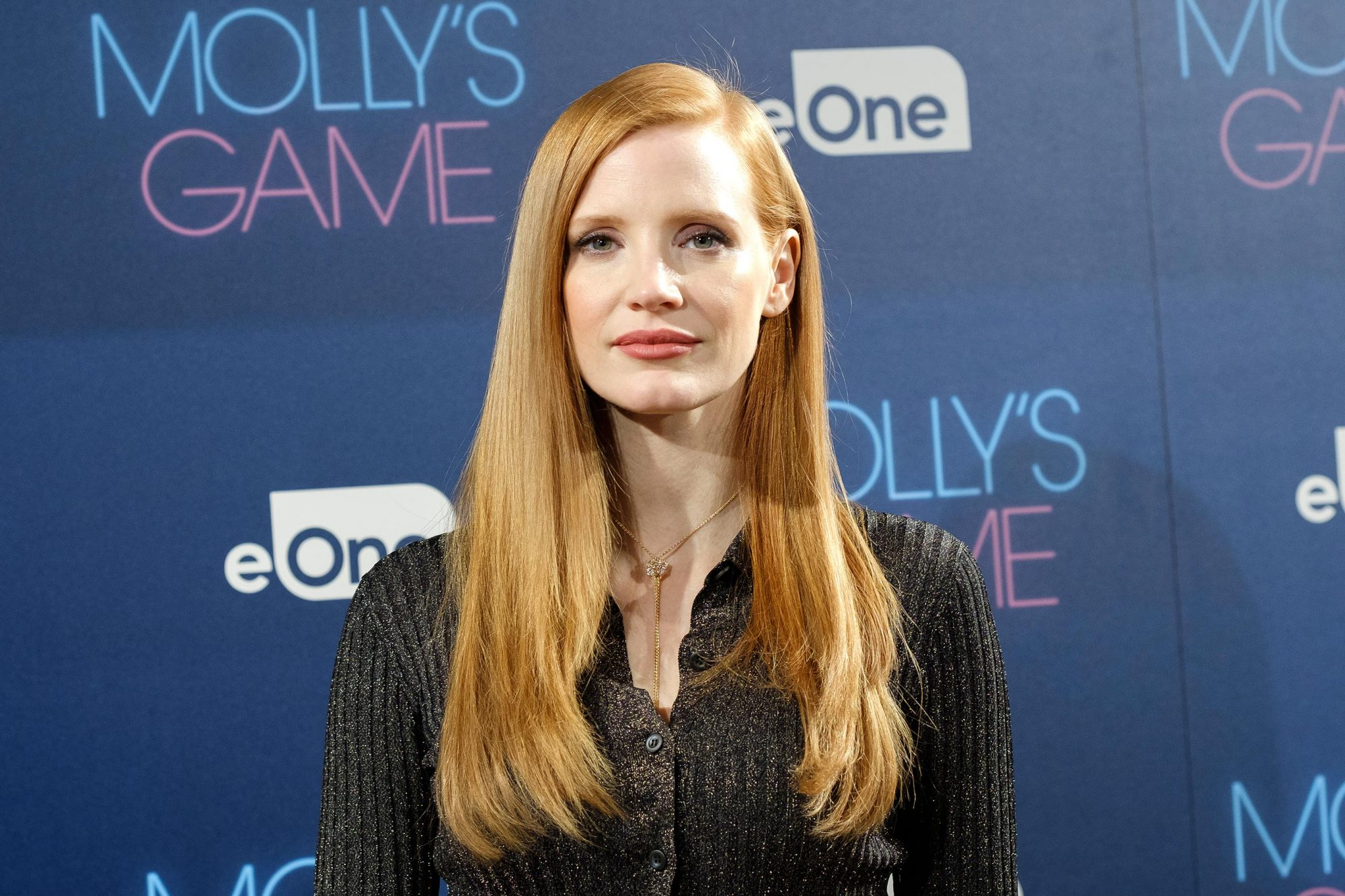 Jessica Chastain Attends 'Molly's Game' Photocall in Madrid